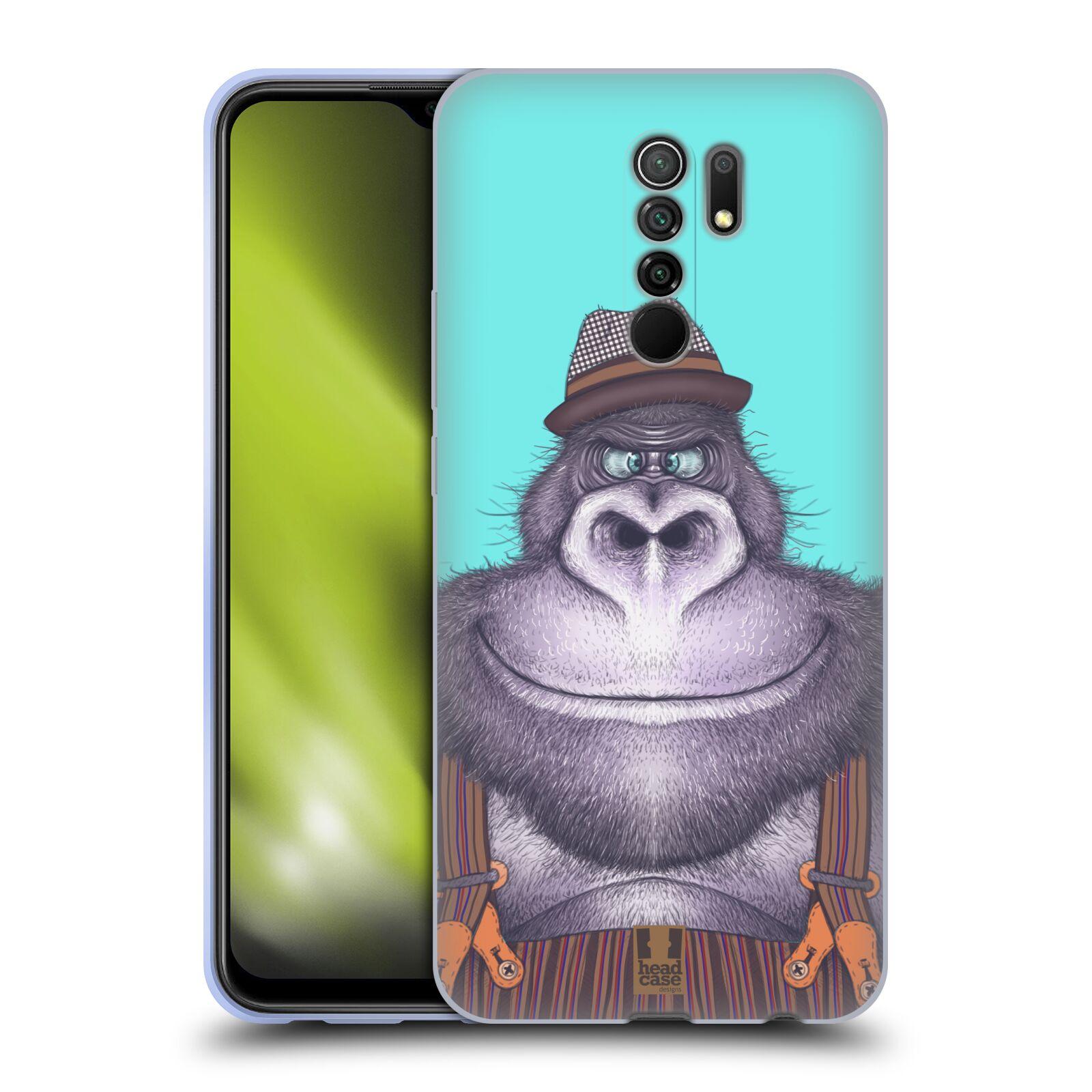 Silikonové pouzdro na mobil Xiaomi Redmi 9 - Head Case - ANIMPLA GORILÁK