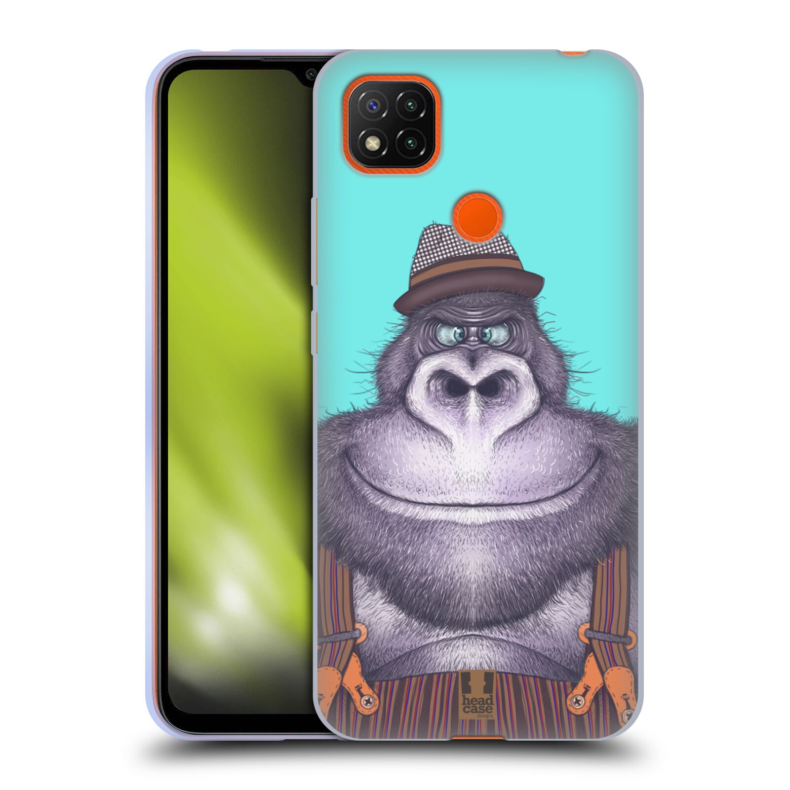 Silikonové pouzdro na mobil Xiaomi Redmi 9C - Head Case - ANIMPLA GORILÁK