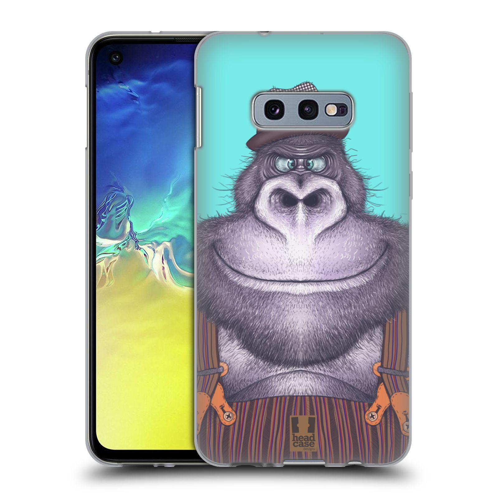 Silikonové pouzdro na mobil Samsung Galaxy S10e - Head Case - ANIMPLA GORILÁK