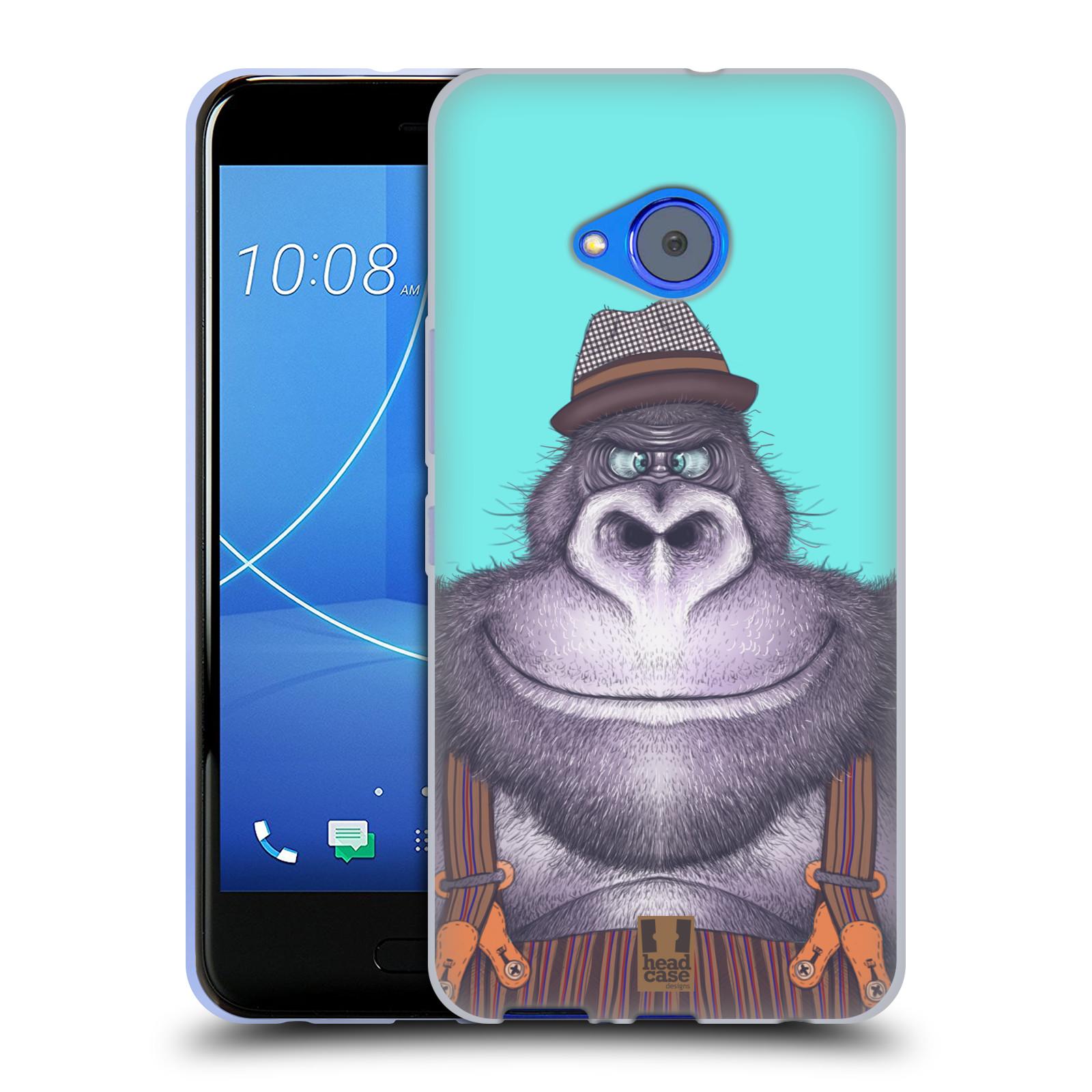 Silikonové pouzdro na mobil HTC U11 Life - Head Case - ANIMPLA GORILÁK