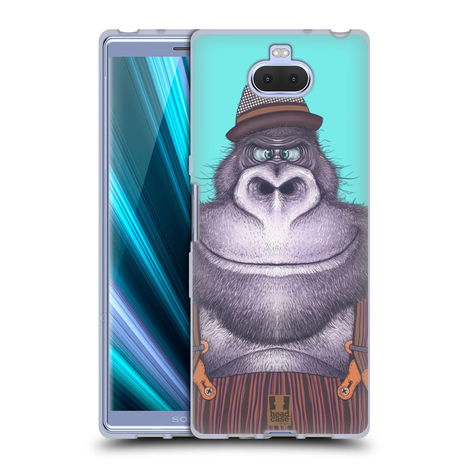 Silikonové pouzdro na mobil Sony Xperia 10 - Head Case - ANIMPLA GORILÁK