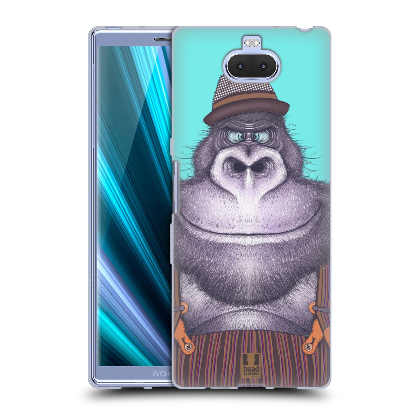 Silikonové pouzdro na mobil Sony Xperia 10 Plus - Head Case - ANIMPLA GORILÁK