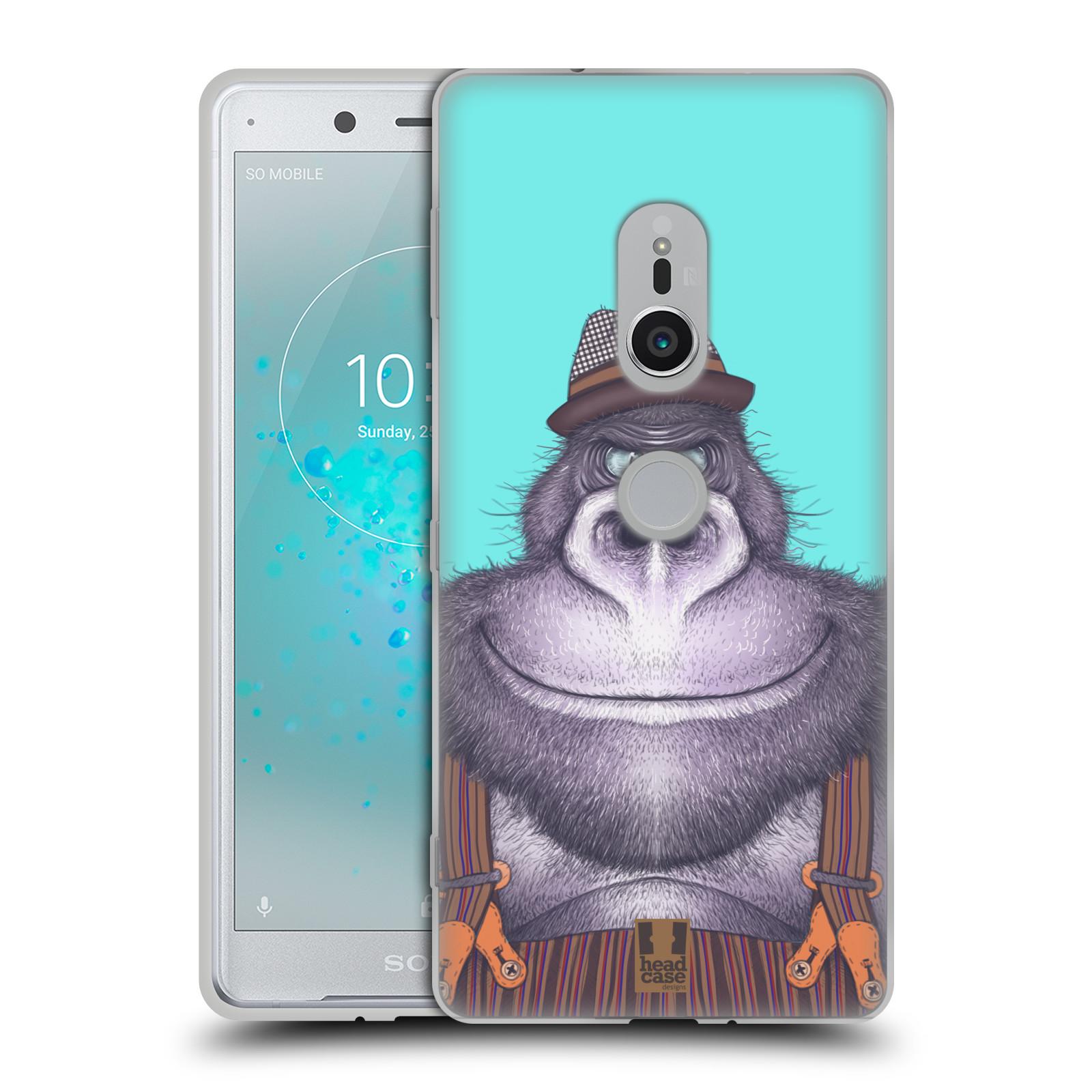 Silikonové pouzdro na mobil Sony Xperia XZ2 - Head Case - ANIMPLA GORILÁK