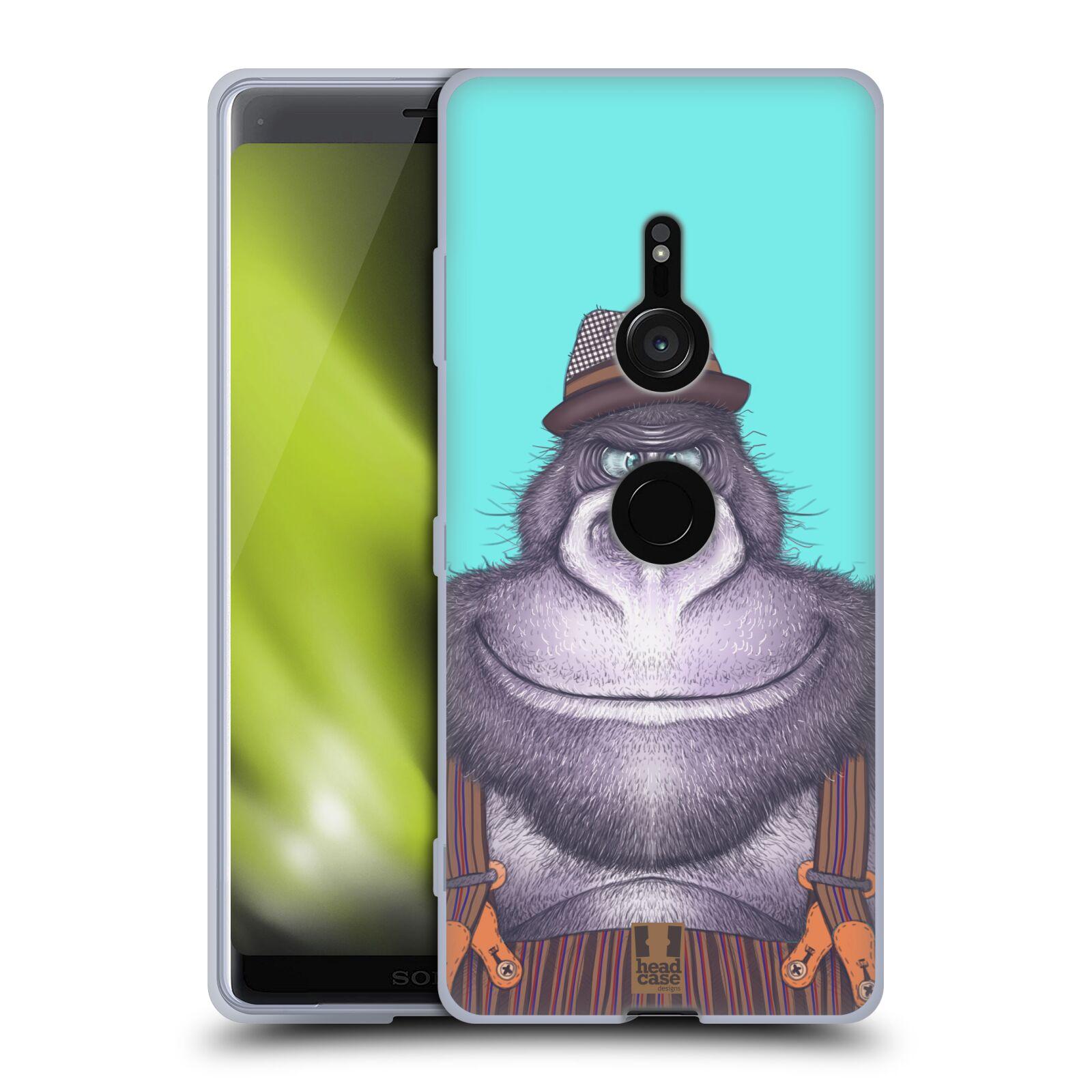 Silikonové pouzdro na mobil Sony Xperia XZ3 - Head Case - ANIMPLA GORILÁK