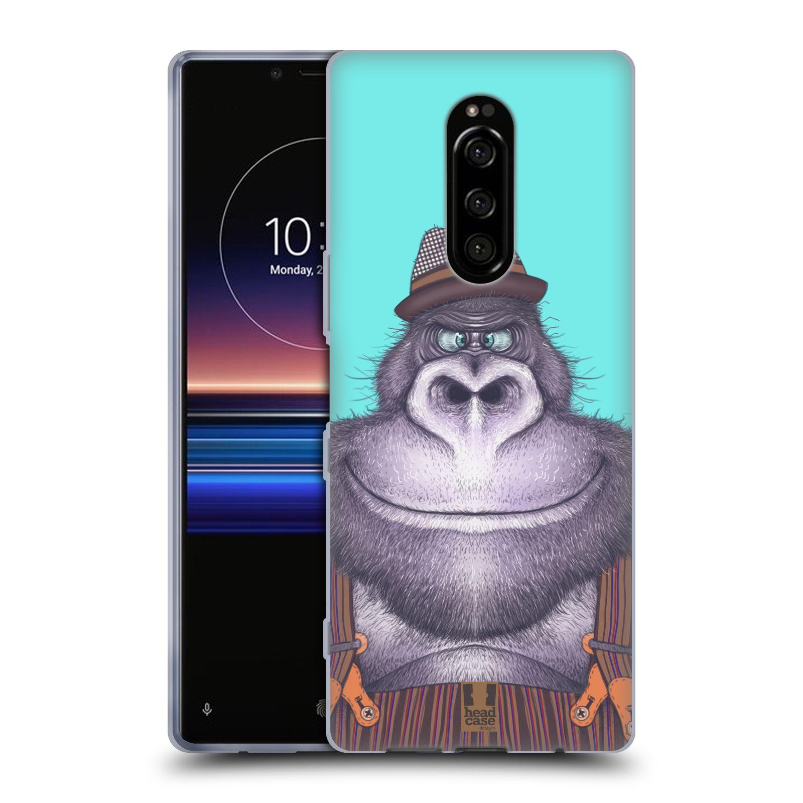 Silikonové pouzdro na mobil Sony Xperia 1 - Head Case - ANIMPLA GORILÁK