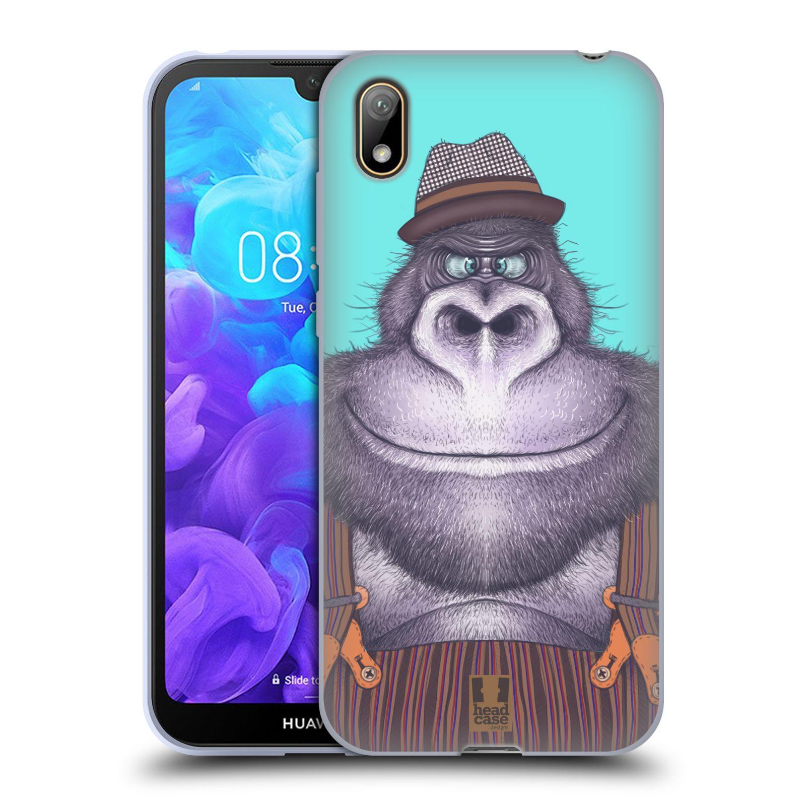 Silikonové pouzdro na mobil Huawei Y5 (2019) - Head Case - ANIMPLA GORILÁK