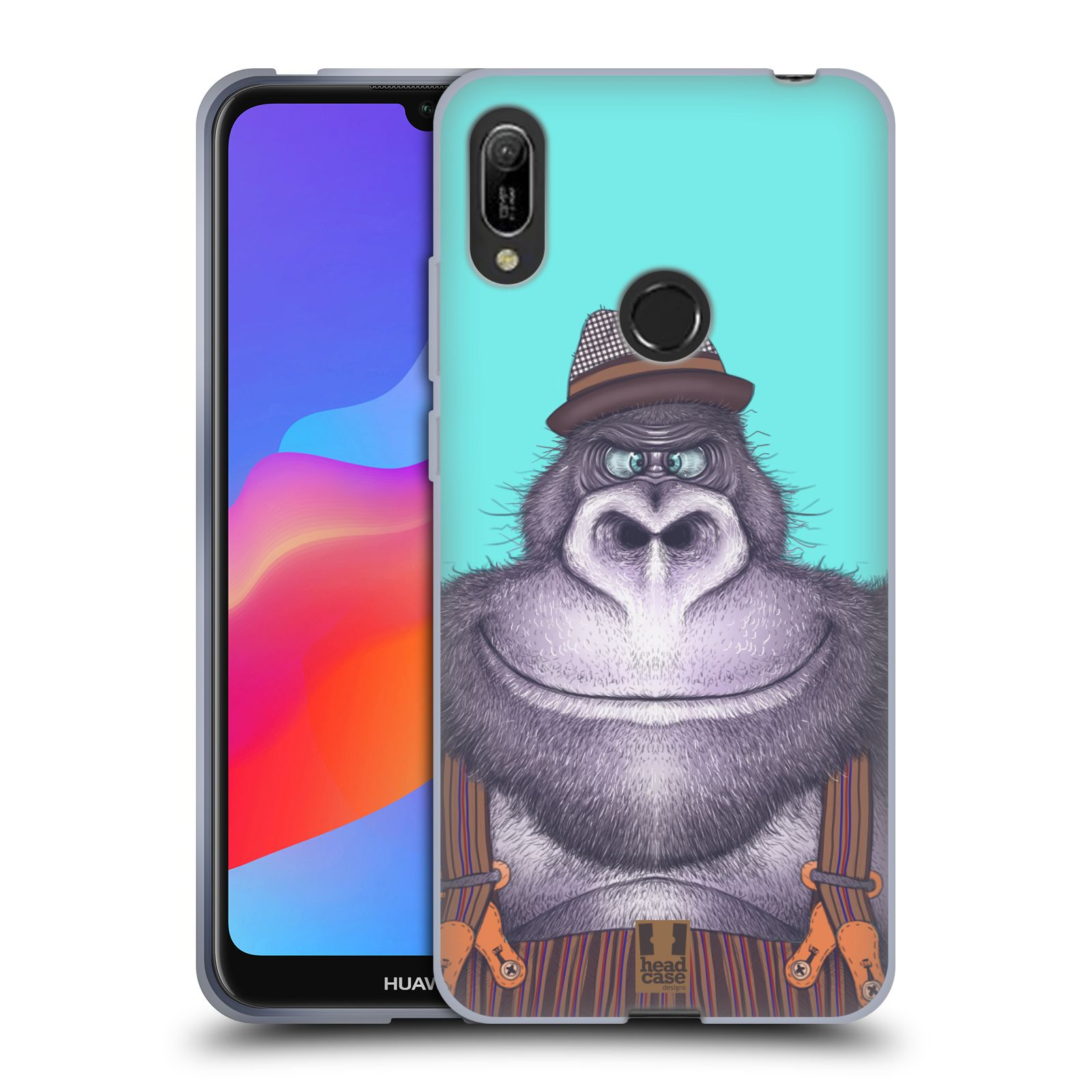 Silikonové pouzdro na mobil Huawei Y6 (2019) - Head Case - ANIMPLA GORILÁK