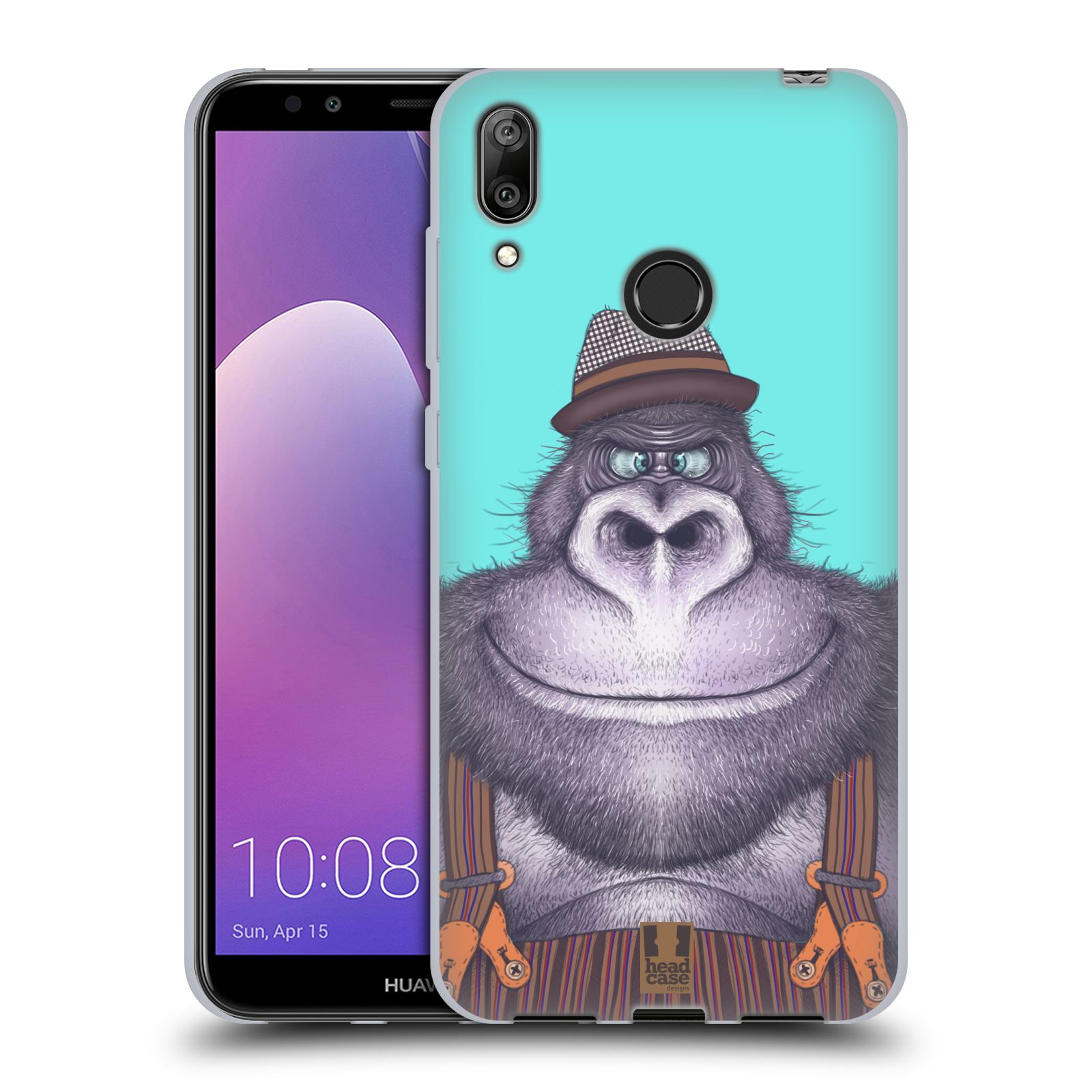 Silikonové pouzdro na mobil Huawei Y7 (2019) - Head Case - ANIMPLA GORILÁK