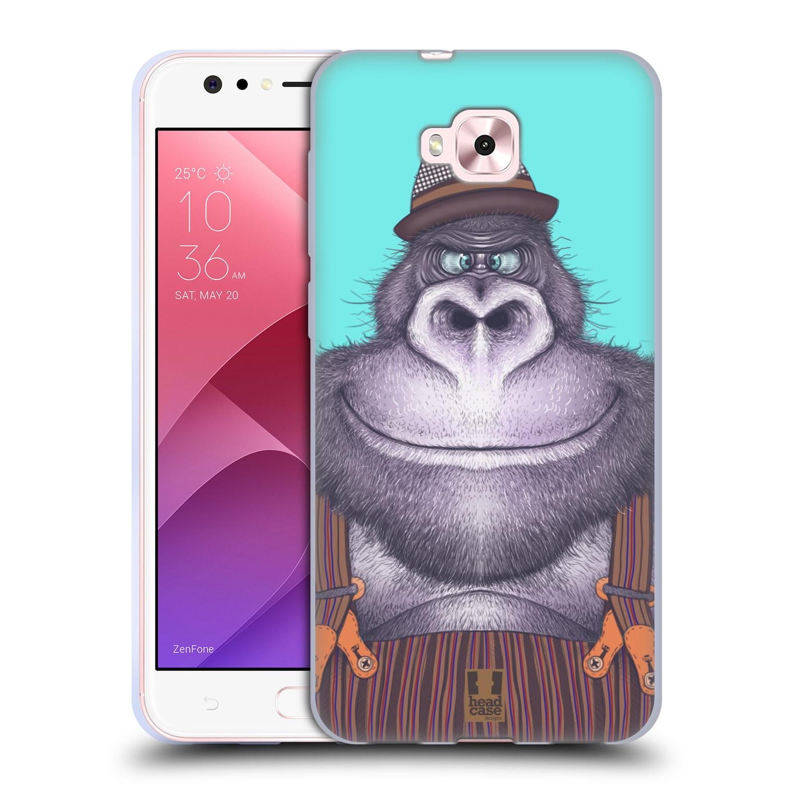 Silikonové pouzdro na mobil Asus Zenfone 4 Selfie ZD553KL - Head Case - ANIMPLA GORILÁK