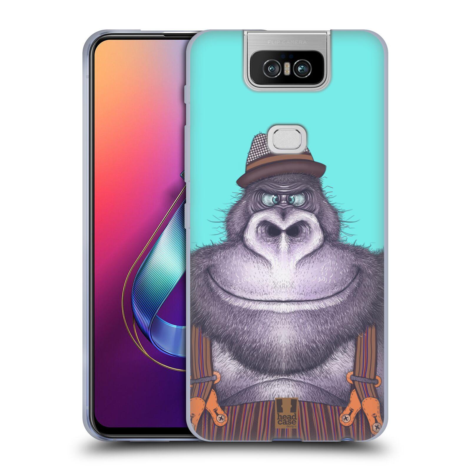 Silikonové pouzdro na mobil Asus Zenfone 6 ZS630KL - Head Case - ANIMPLA GORILÁK