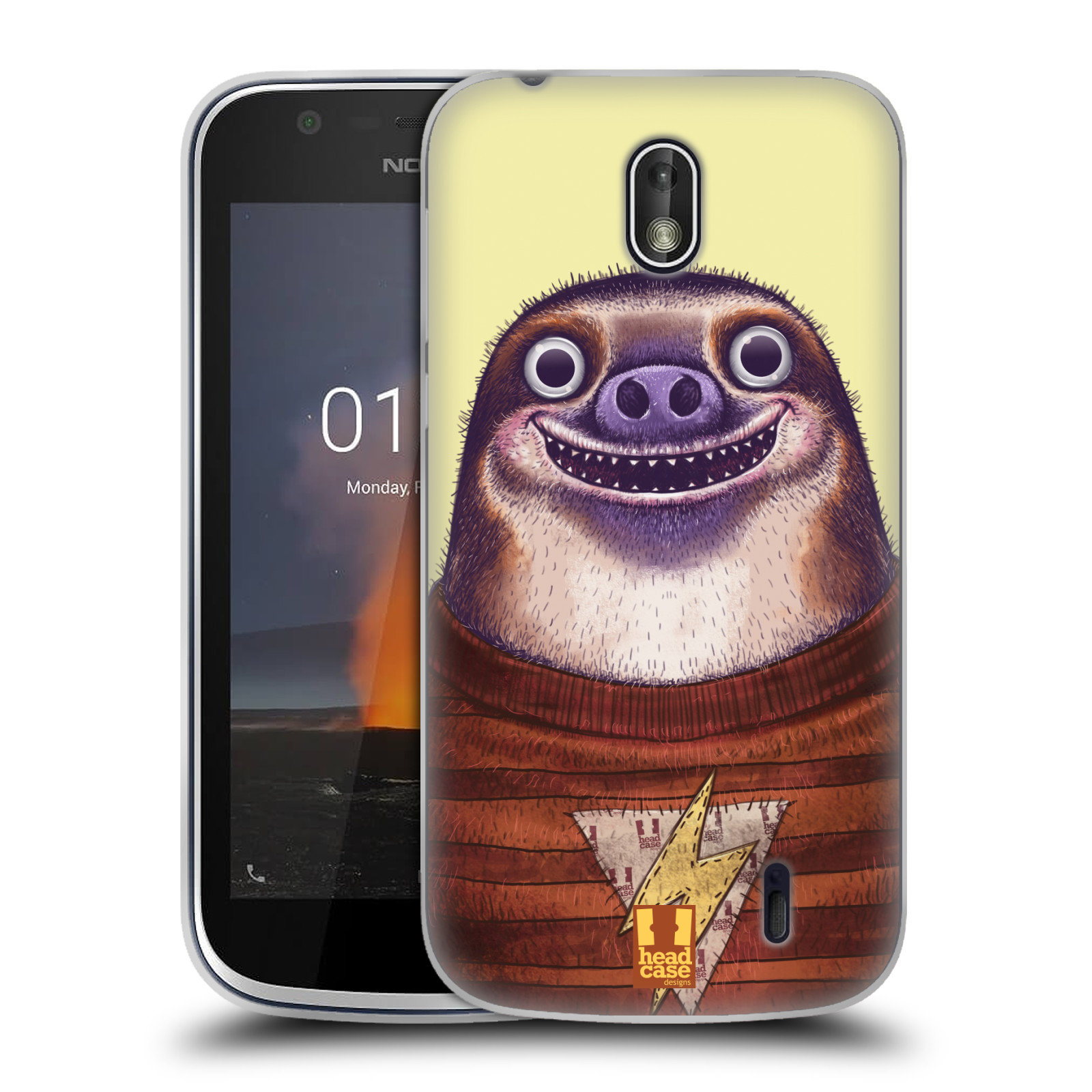 Silikonové pouzdro na mobil Nokia 1 - Head Case - ANIMPLA LENOCHOD