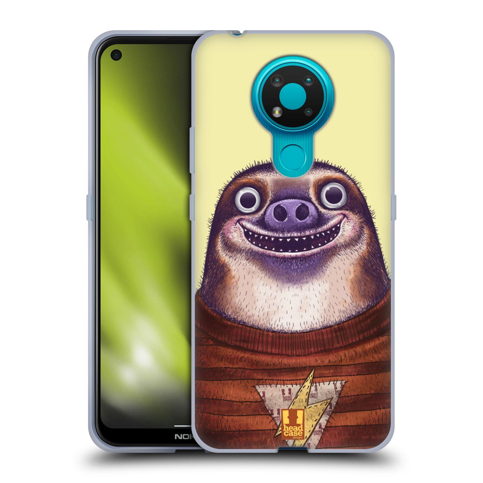 Silikonové pouzdro na mobil Nokia 3.4 - Head Case - ANIMPLA LENOCHOD