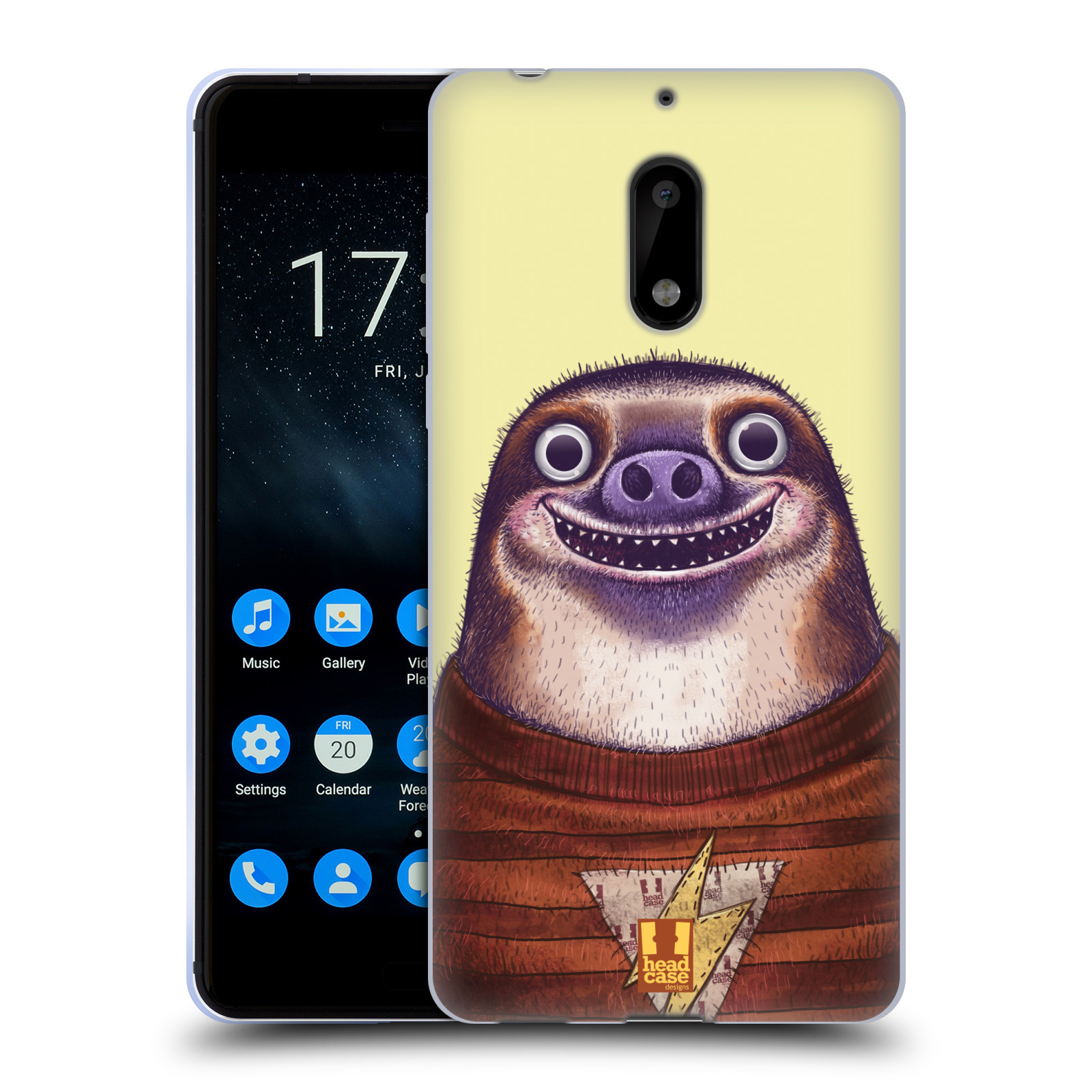 Silikonové pouzdro na mobil Nokia 6 - Head Case - ANIMPLA LENOCHOD