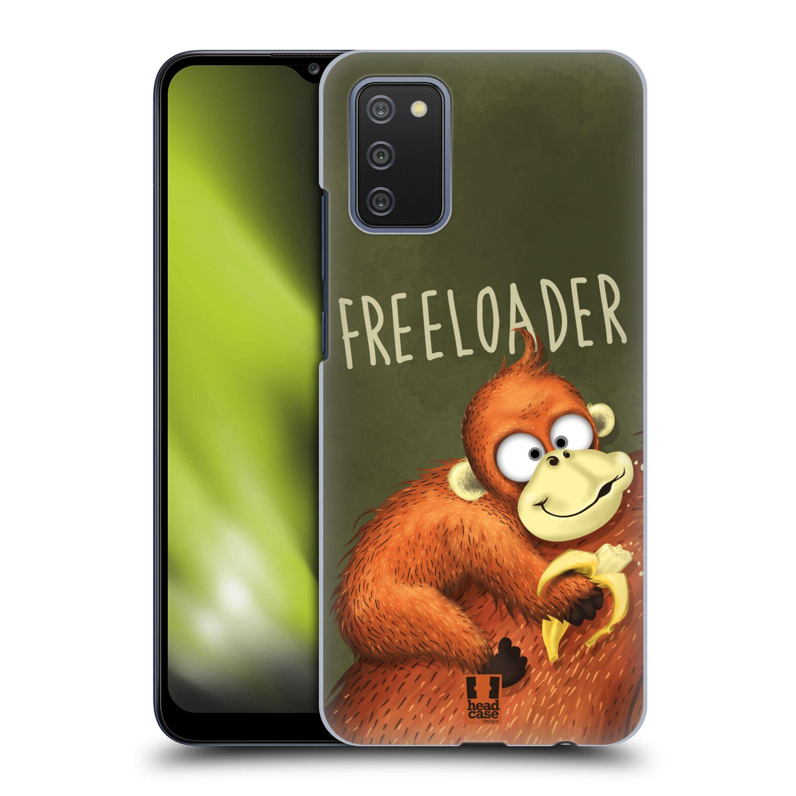 Plastové pouzdro na mobil Samsung Galaxy A02s - Head Case - Opičák Freeloader