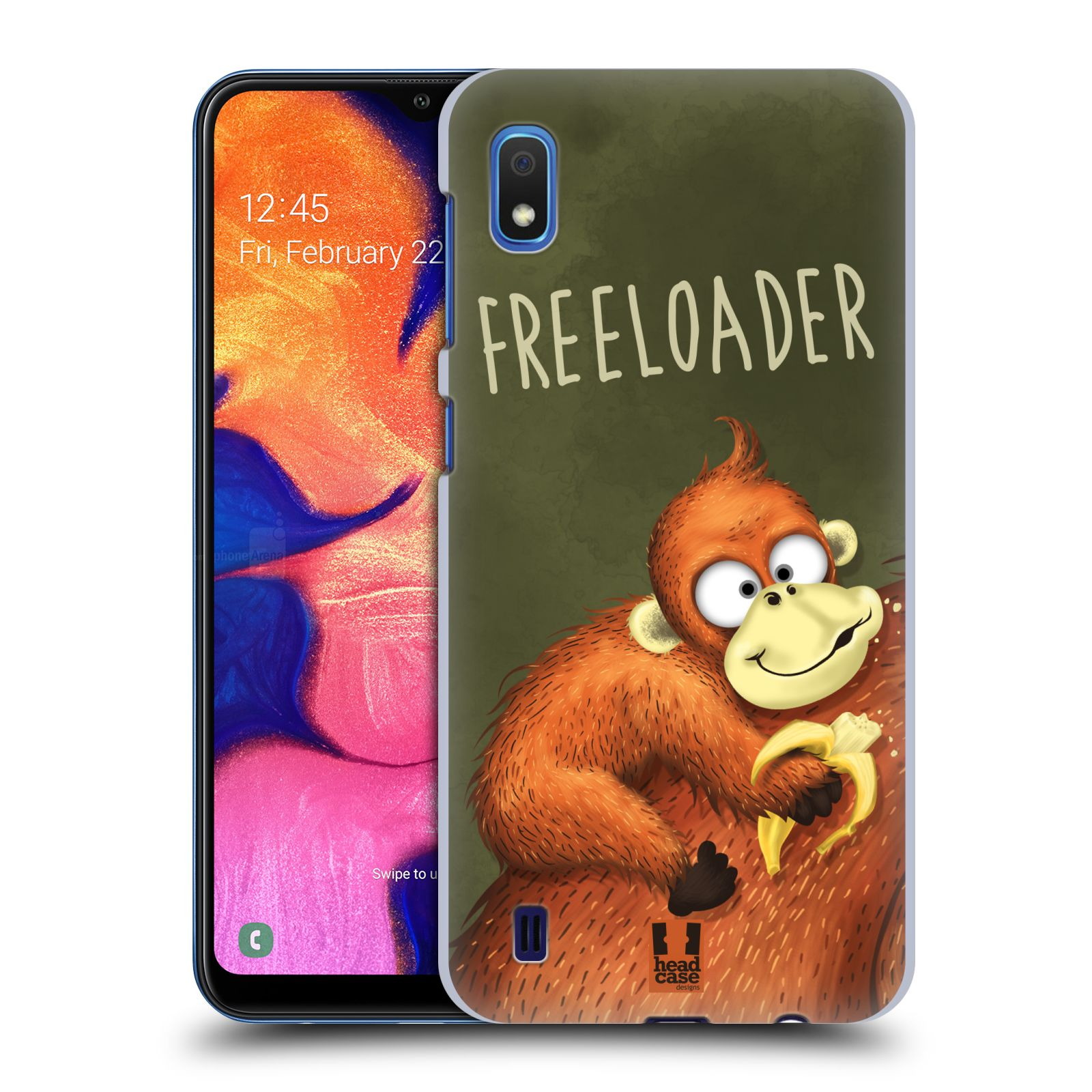Plastové pouzdro na mobil Samsung Galaxy A10 - Head Case - Opičák Freeloader