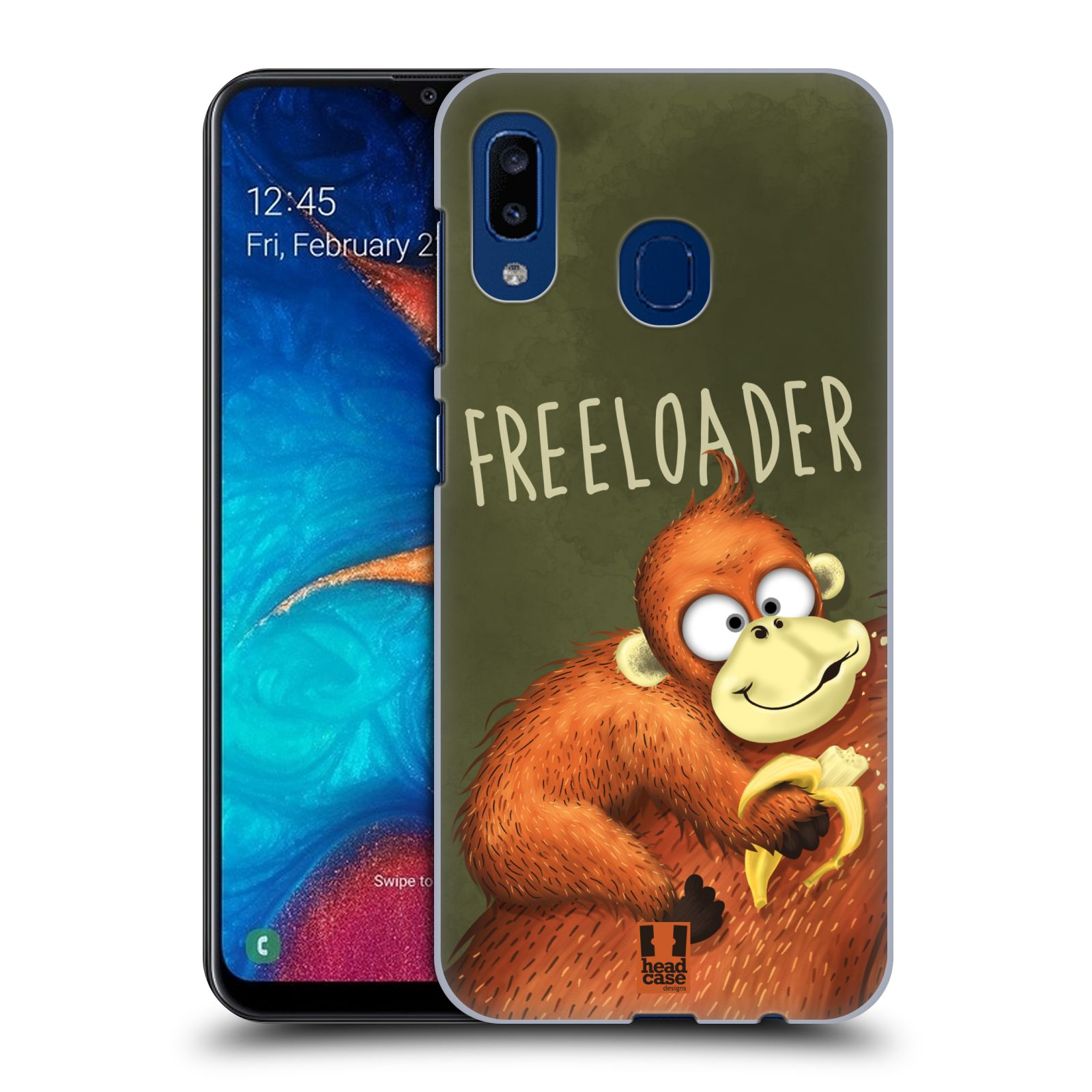 Plastové pouzdro na mobil Samsung Galaxy A20 - Head Case - Opičák Freeloader