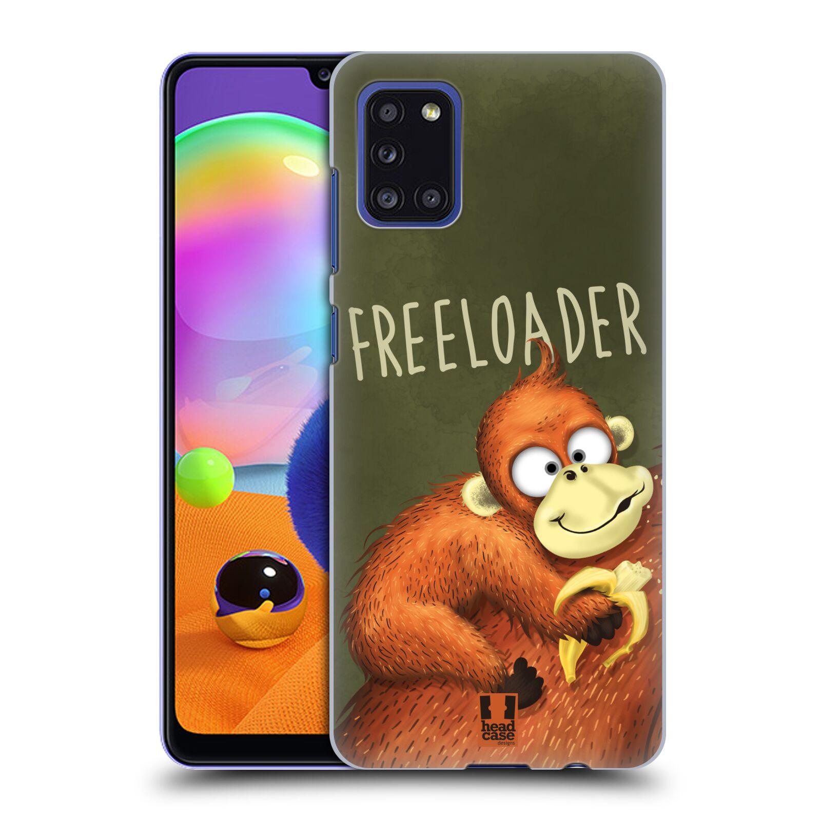 Plastové pouzdro na mobil Samsung Galaxy A31 - Head Case - Opičák Freeloader