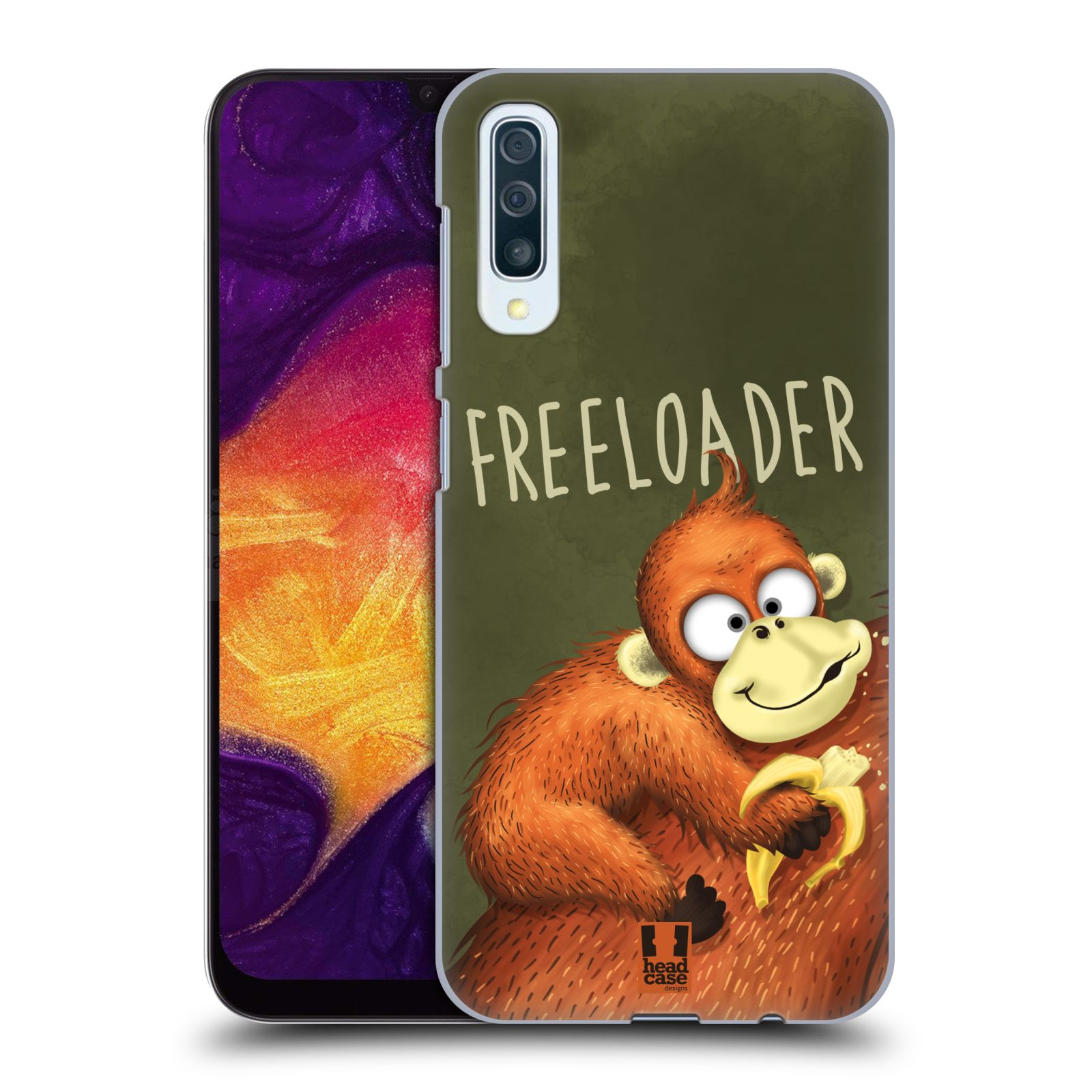 Plastové pouzdro na mobil Samsung Galaxy A50 - Head Case - Opičák Freeloader