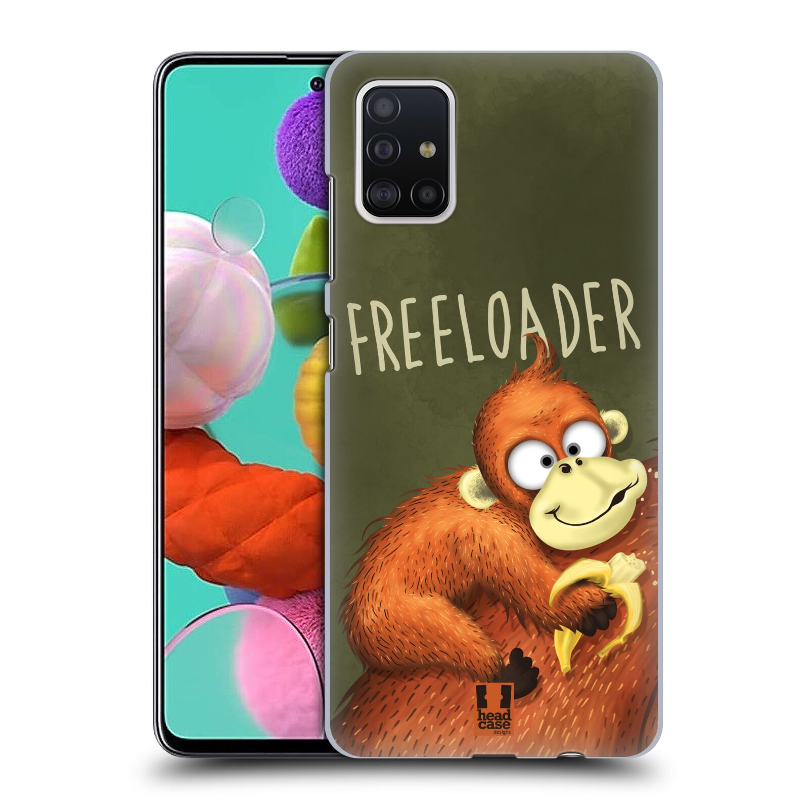 Plastové pouzdro na mobil Samsung Galaxy A51 - Head Case - Opičák Freeloader