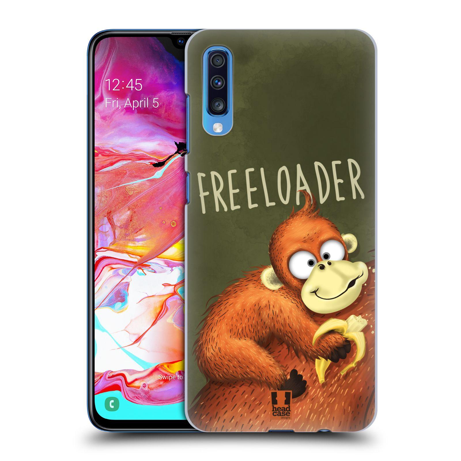 Plastové pouzdro na mobil Samsung Galaxy A70 - Head Case - Opičák Freeloader