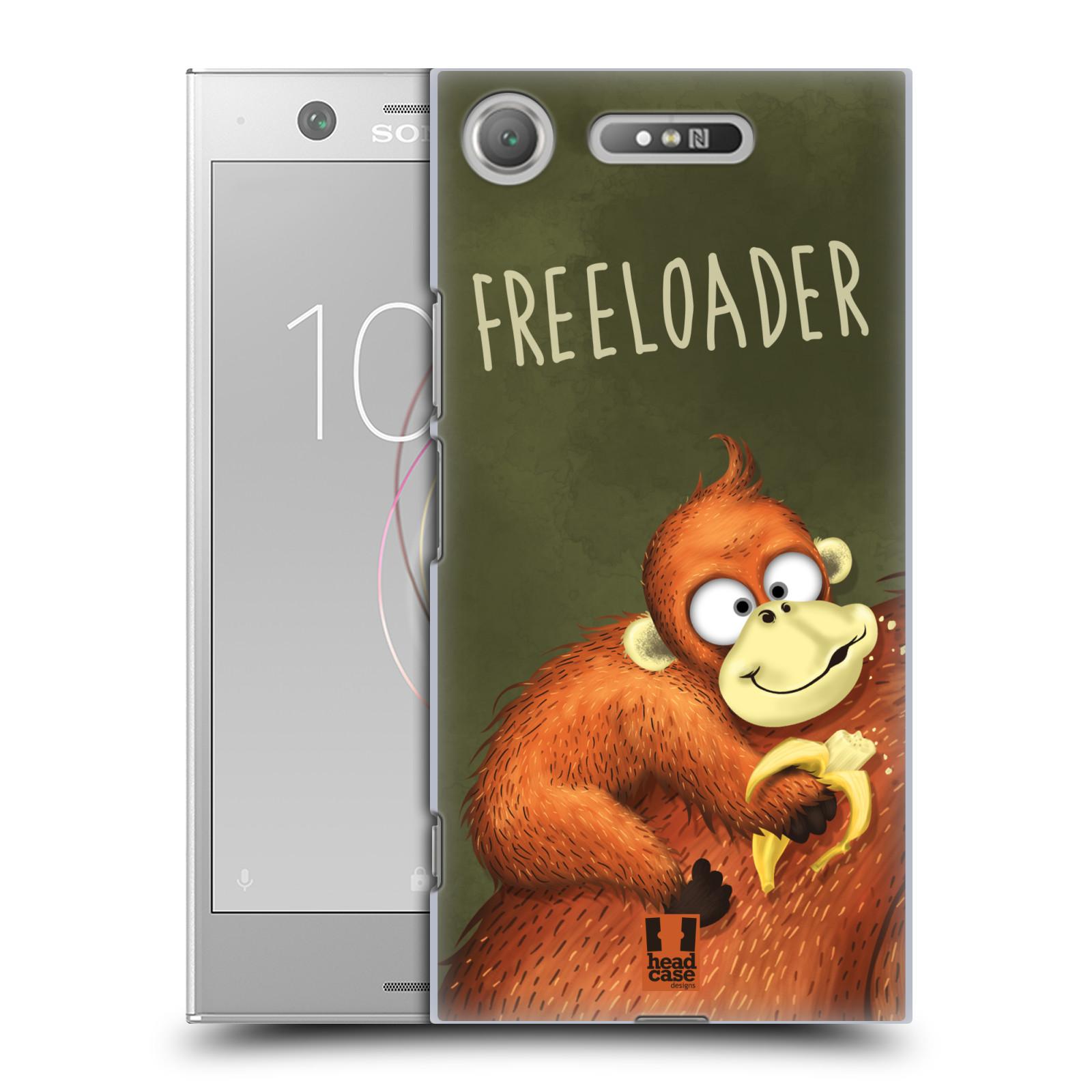 Plastové pouzdro na mobil Sony Xperia XZ1 - Head Case - Opičák Freeloader
