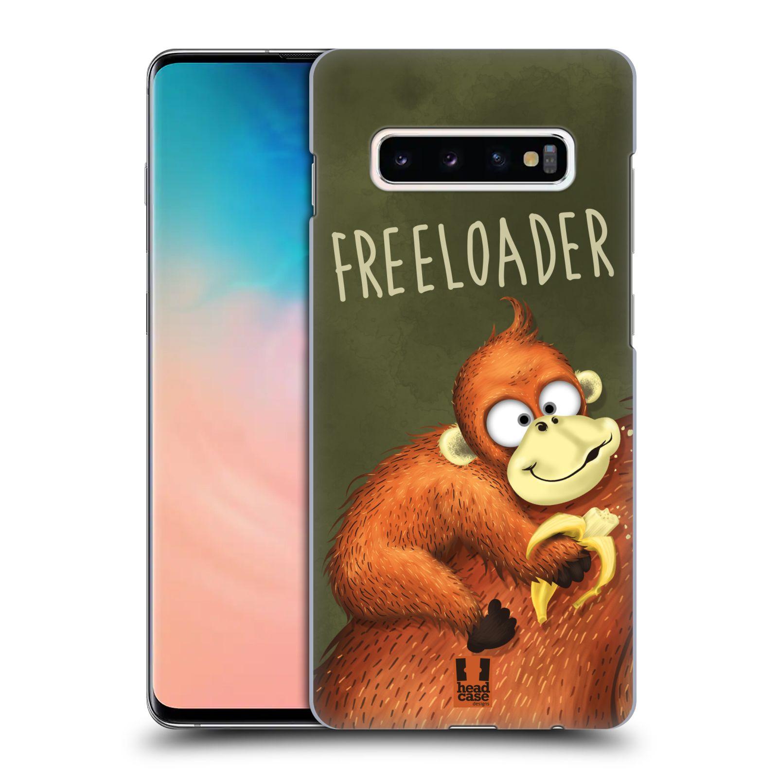 Plastové pouzdro na mobil Samsung Galaxy S10 Plus - Head Case - Opičák Freeloader