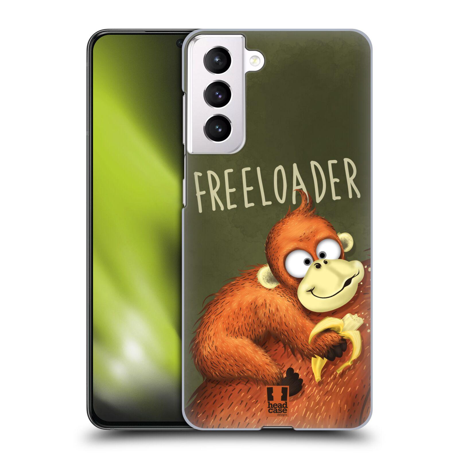 Plastové pouzdro na mobil Samsung Galaxy S21 5G - Head Case - Opičák Freeloader