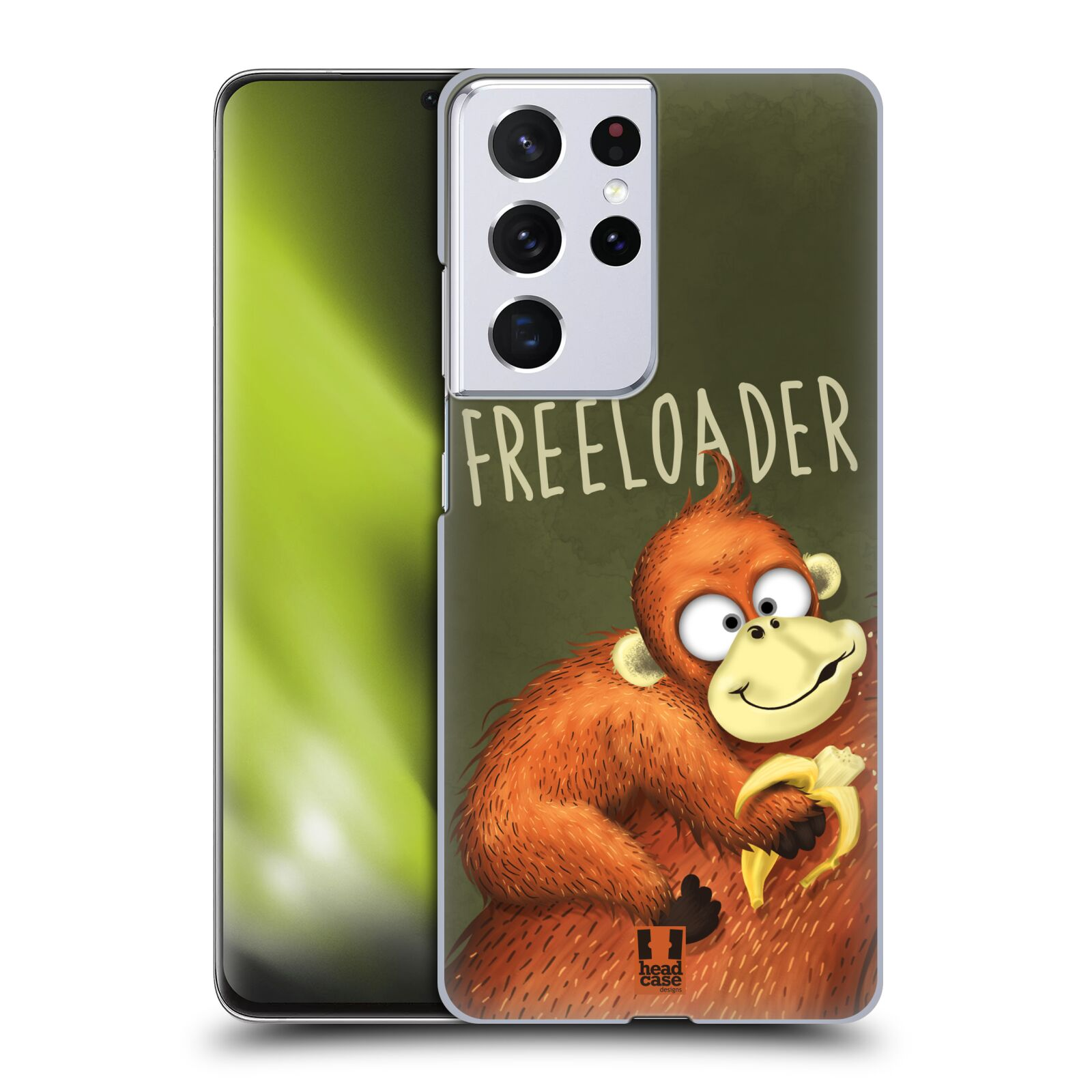 Plastové pouzdro na mobil Samsung Galaxy S21 Ultra 5G - Head Case - Opičák Freeloader