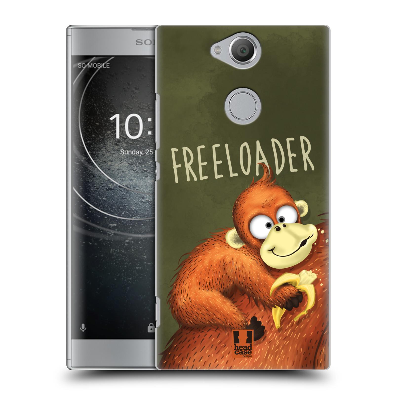 Plastové pouzdro na mobil Sony Xperia XA2 - Head Case - Opičák Freeloader