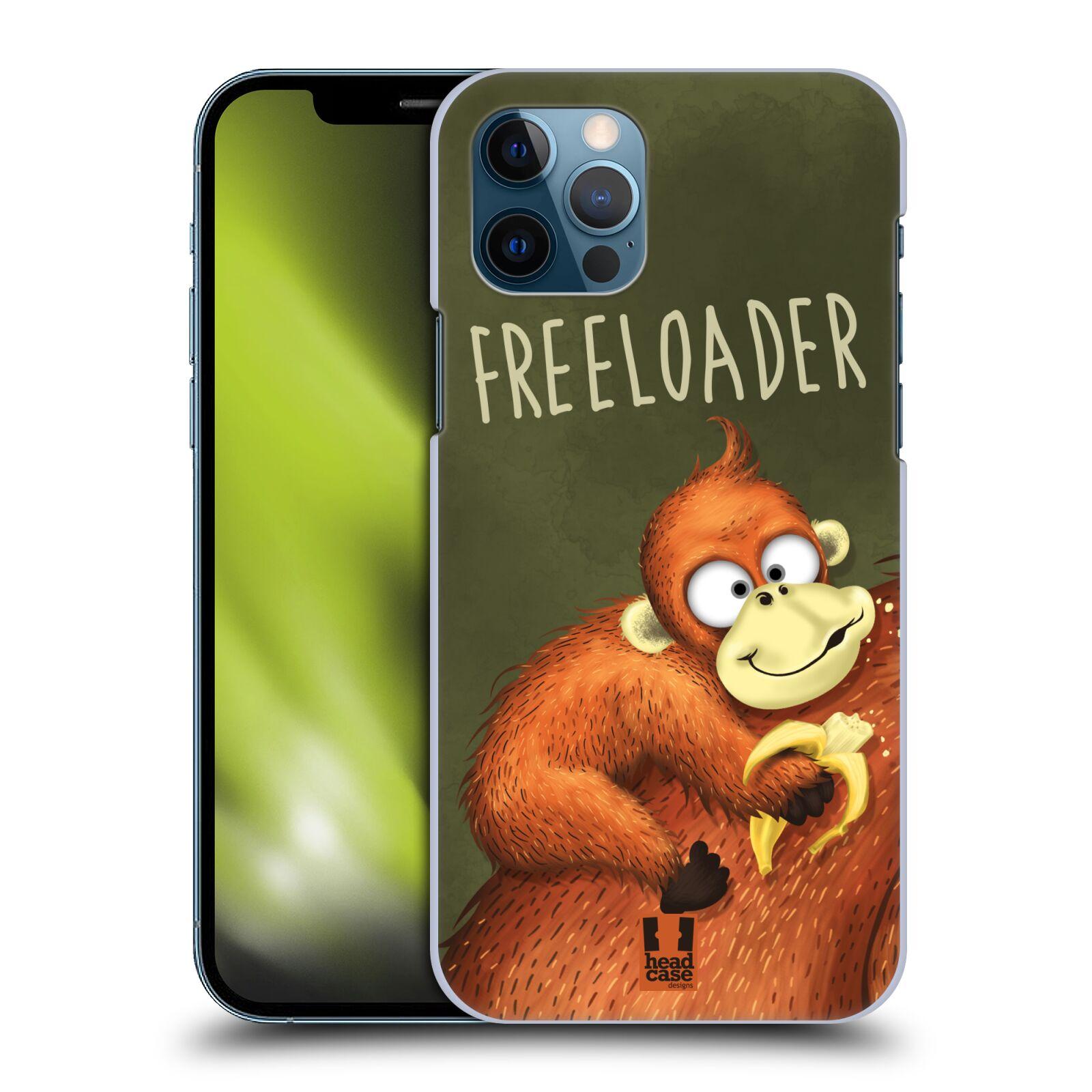Plastové pouzdro na mobil Apple iPhone 12 / 12 Pro - Head Case - Opičák Freeloader