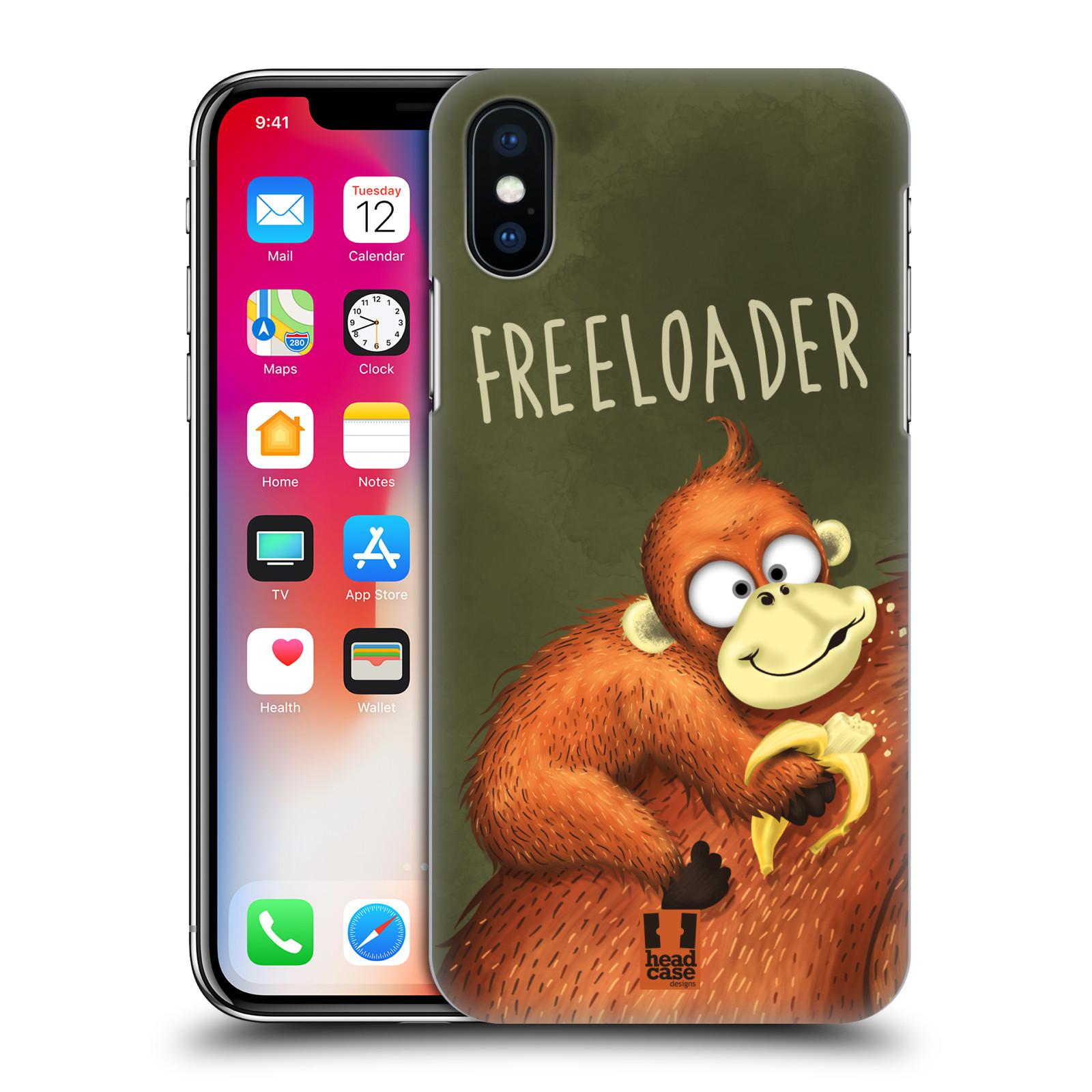 Plastové pouzdro na mobil Apple iPhone X - Head Case - Opičák Freeloader