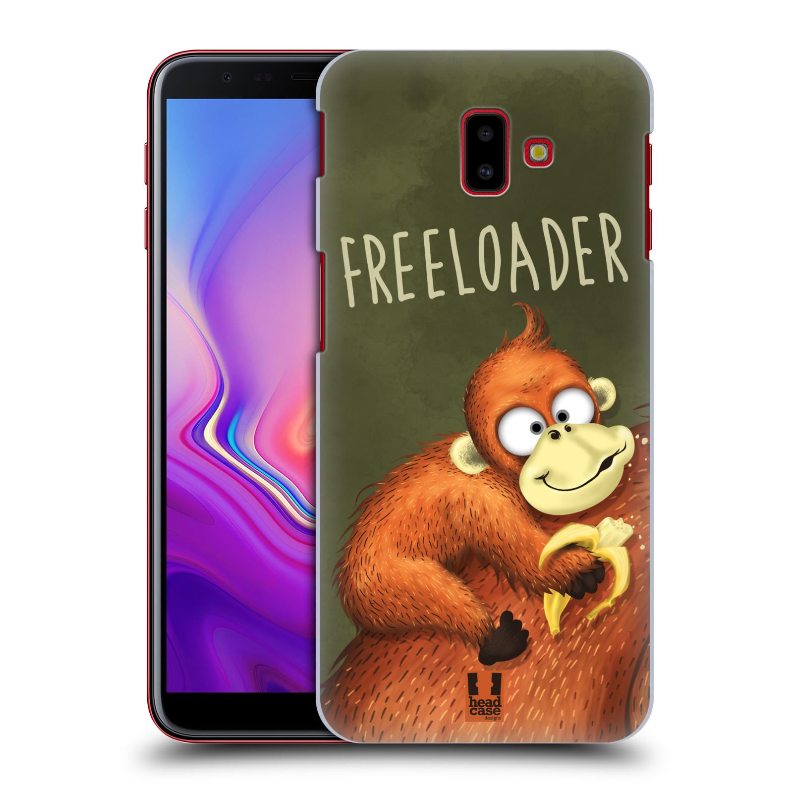 Plastové pouzdro na mobil Samsung Galaxy J6 Plus - Head Case - Opičák Freeloader