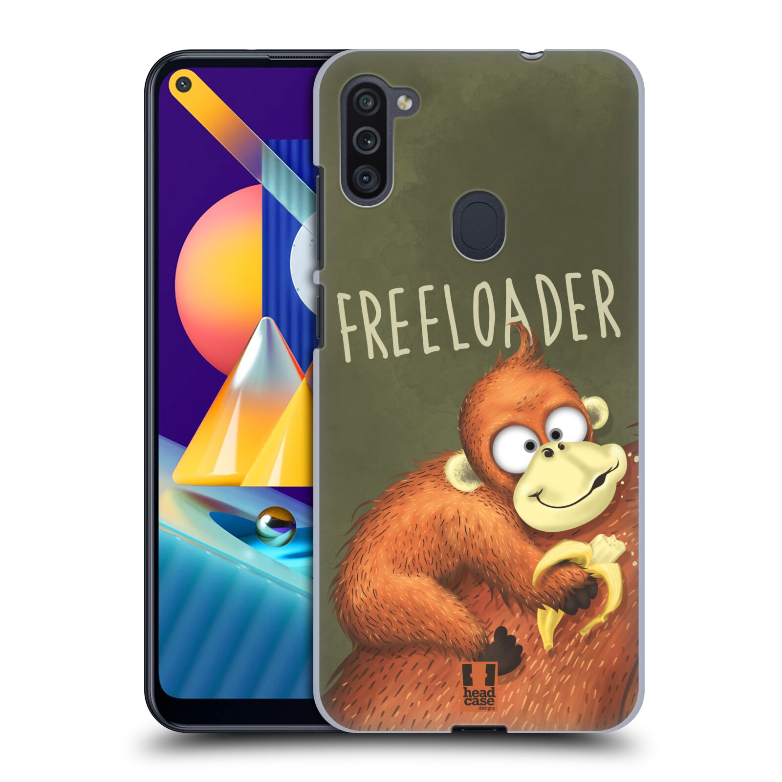 Plastové pouzdro na mobil Samsung Galaxy M11 - Head Case - Opičák Freeloader