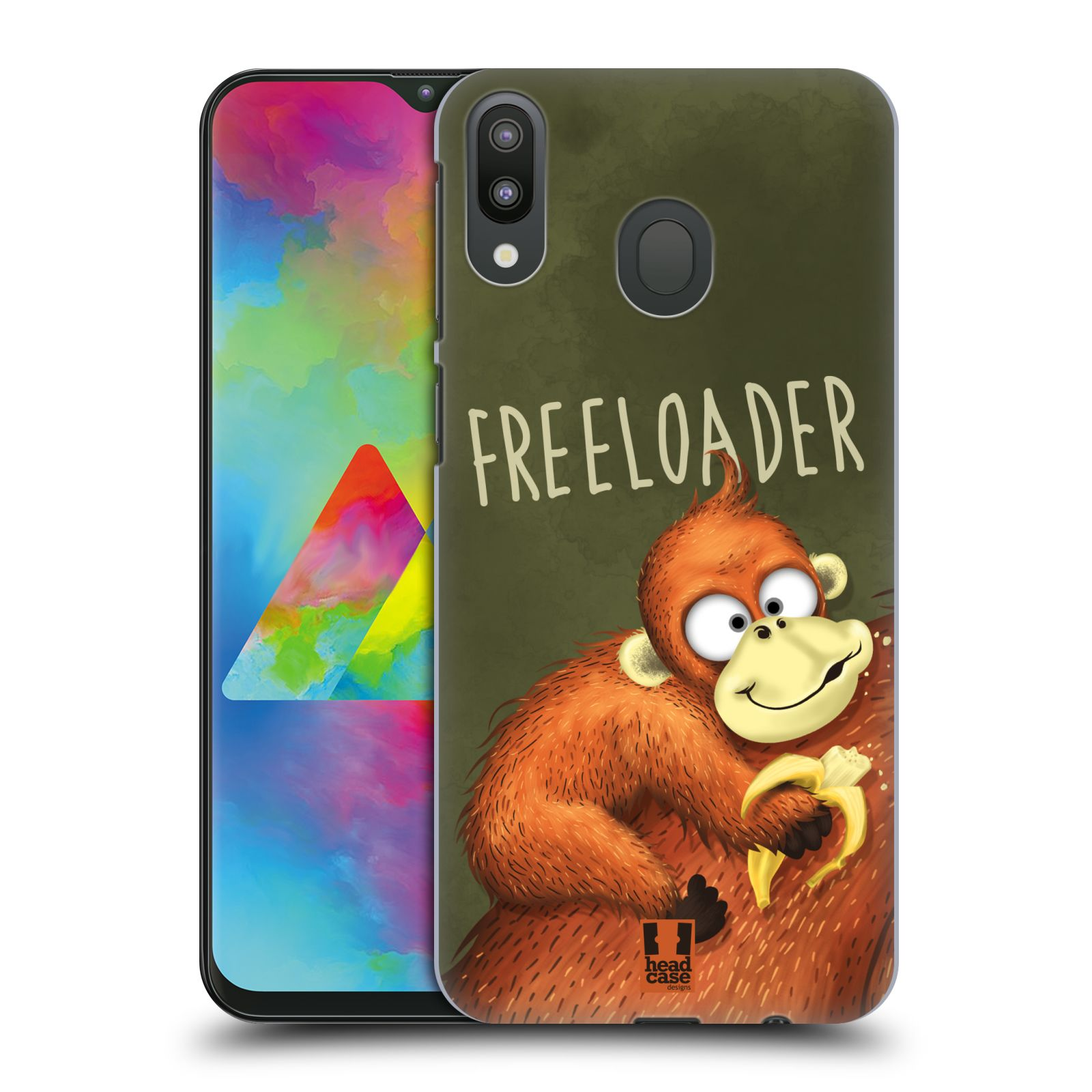 Plastové pouzdro na mobil Samsung Galaxy M20 - Head Case - Opičák Freeloader