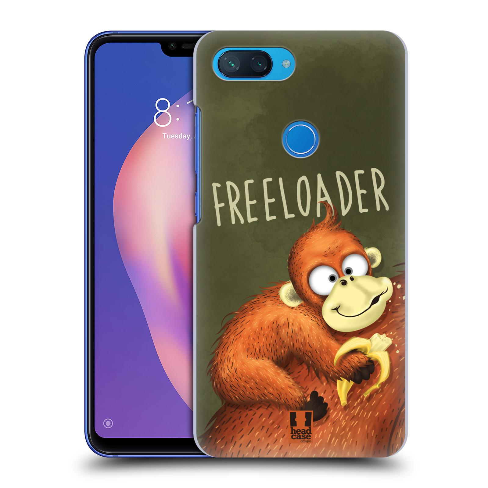 Plastové pouzdro na mobil Xiaomi Mi 8 Lite - Head Case - Opičák Freeloader