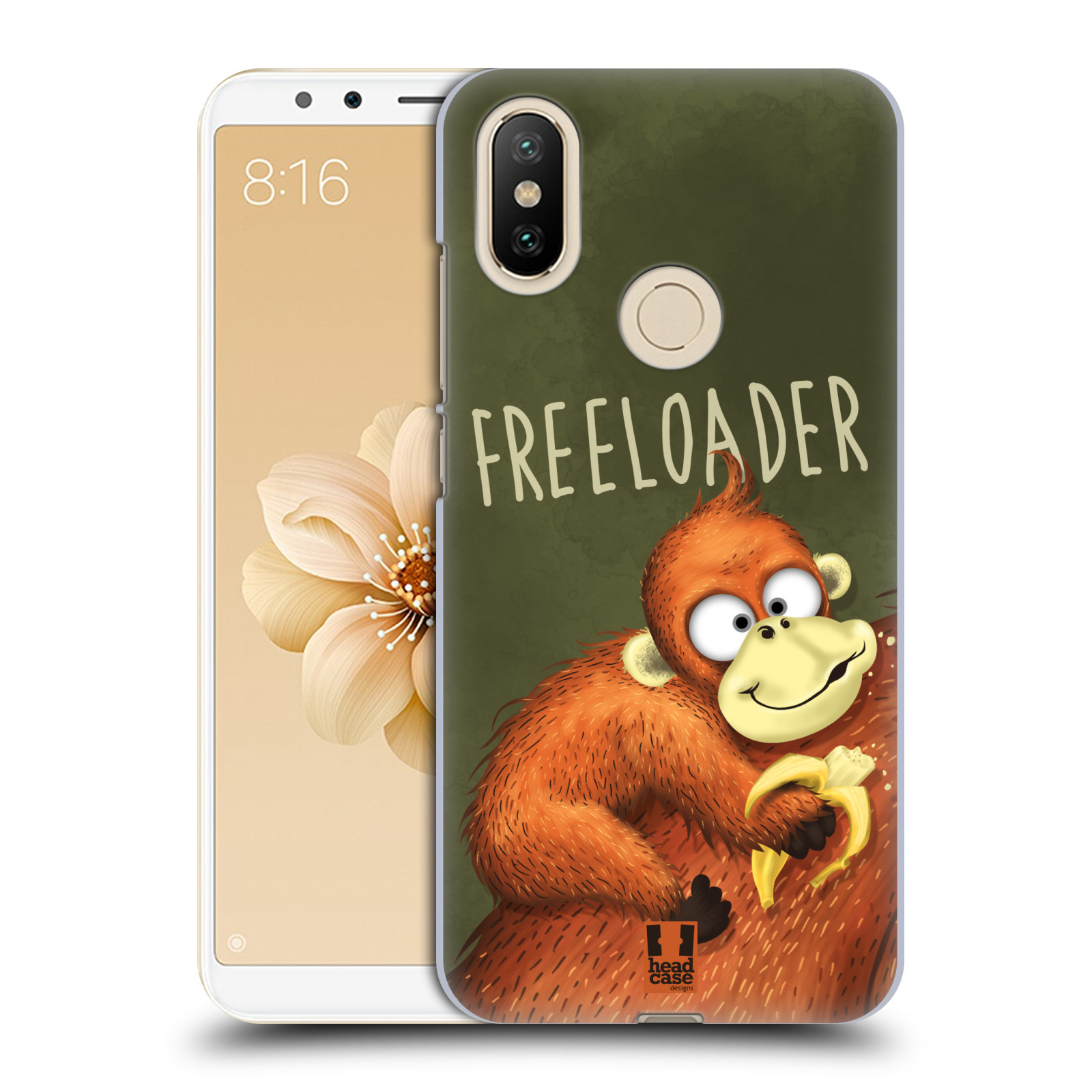 Plastové pouzdro na mobil Xiaomi Mi A2 - Head Case - Opičák Freeloader