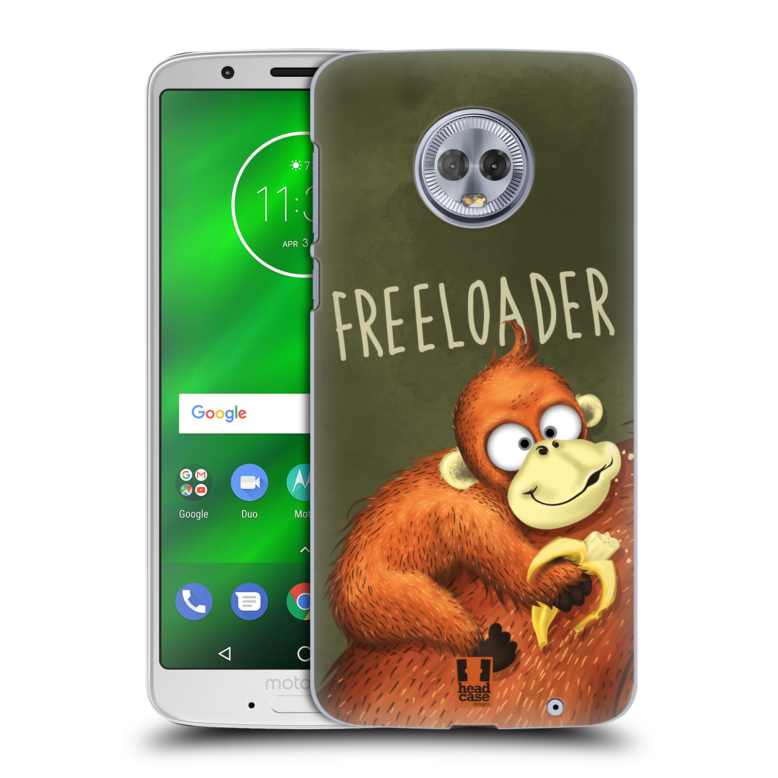 Plastové pouzdro na mobil Motorola Moto G6 Plus - Head Case - Opičák Freeloader