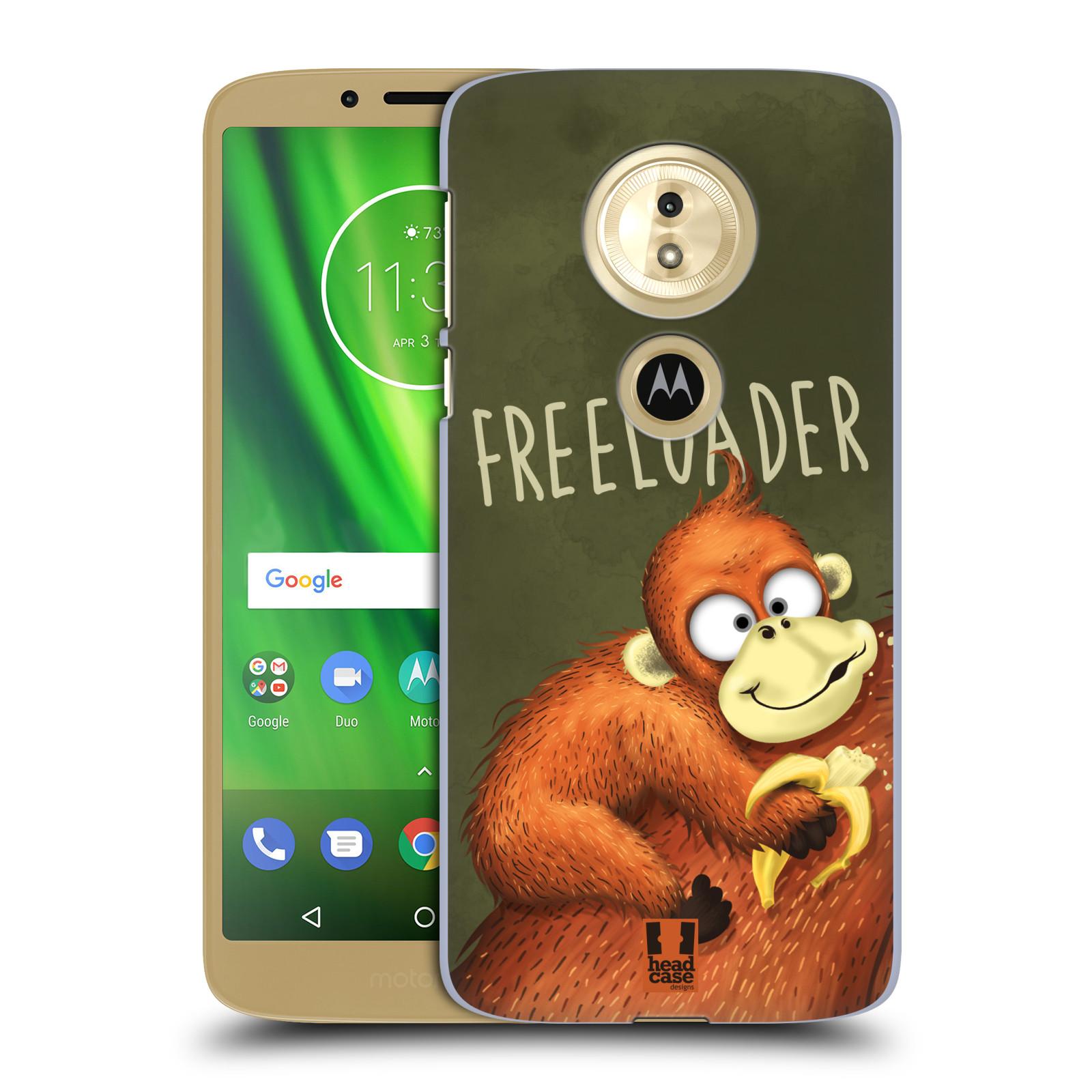 Plastové pouzdro na mobil Motorola Moto G6 Play - Head Case - Opičák Freeloader