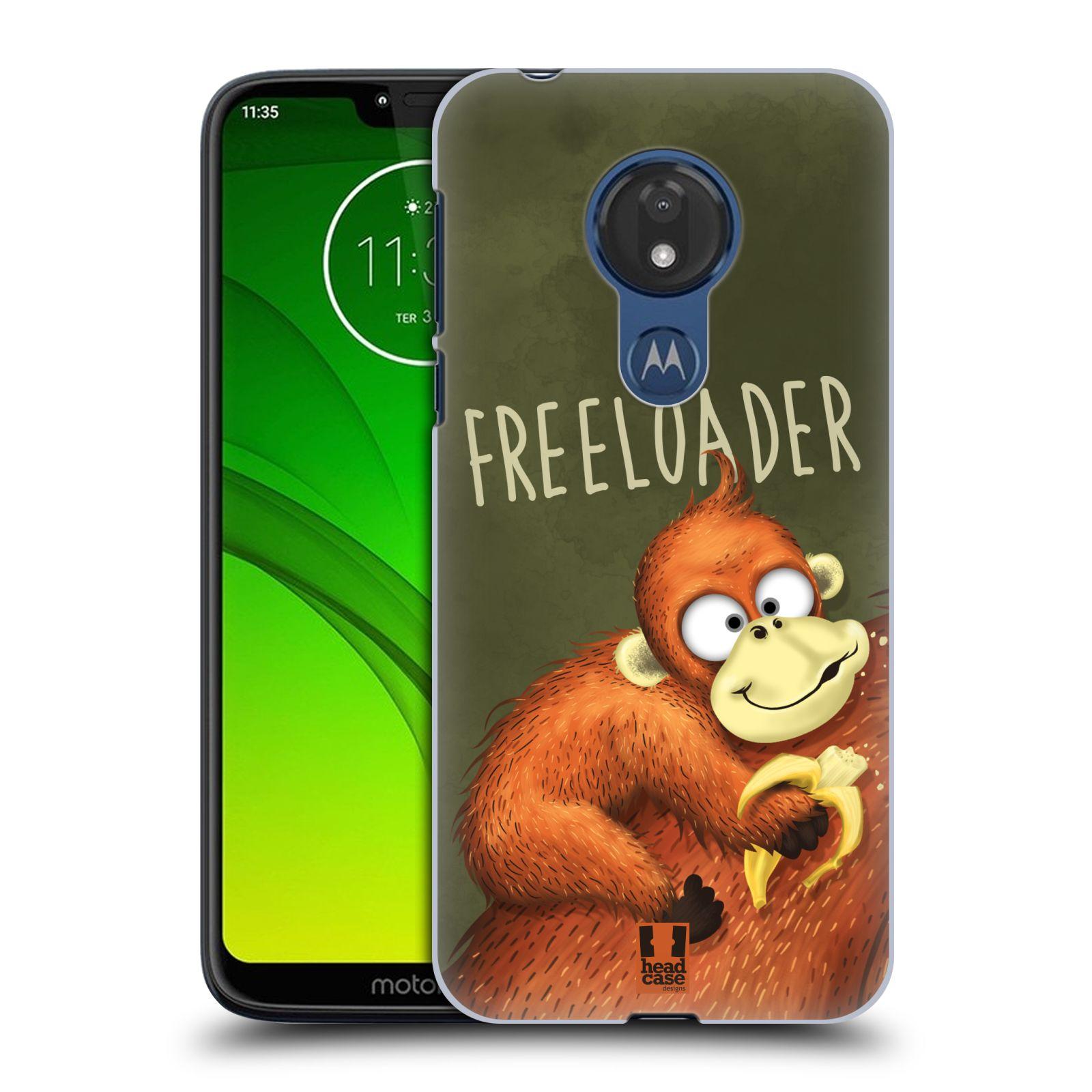Plastové pouzdro na mobil Motorola Moto G7 Power - Head Case - Opičák Freeloader