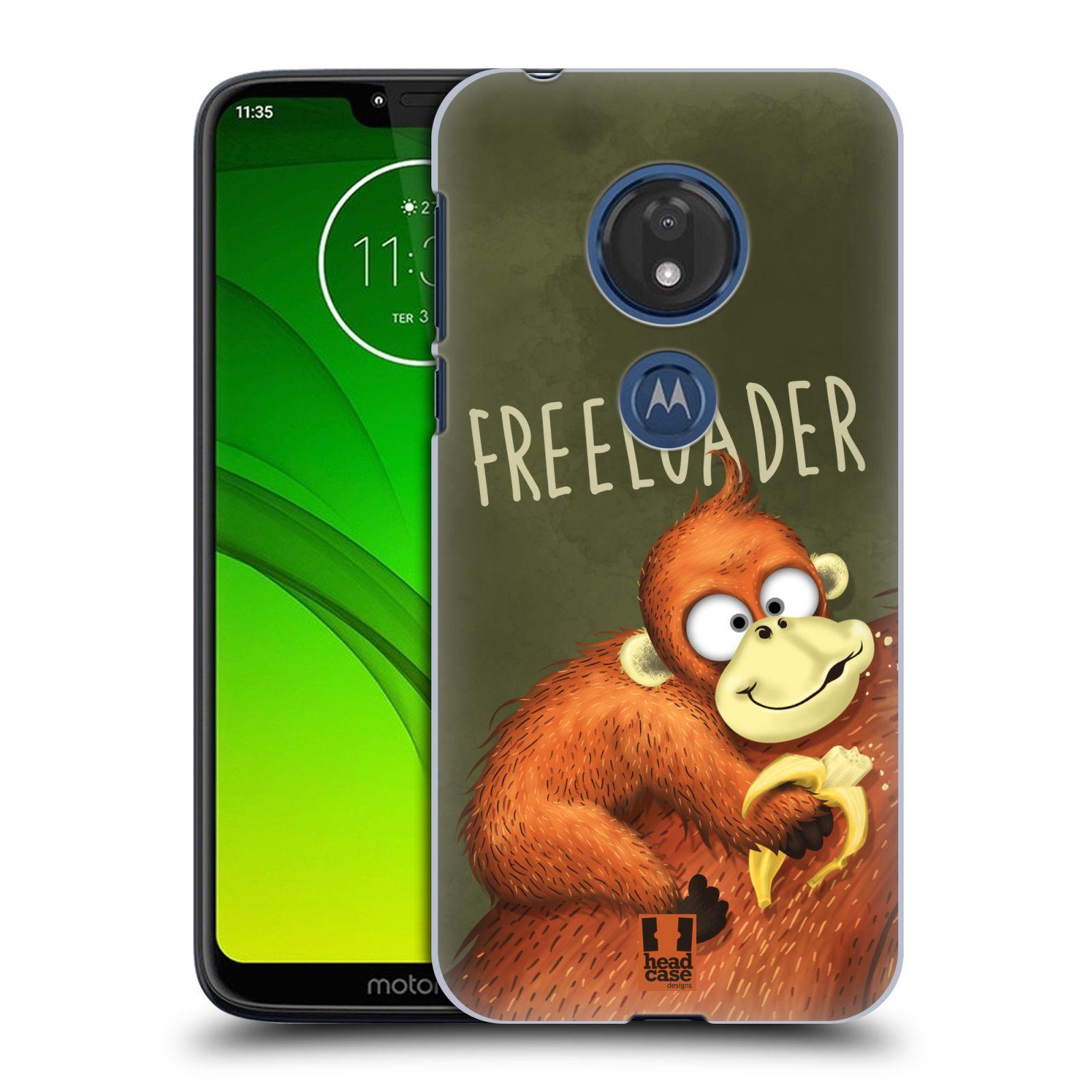 Plastové pouzdro na mobil Motorola Moto G7 Play - Head Case - Opičák Freeloader