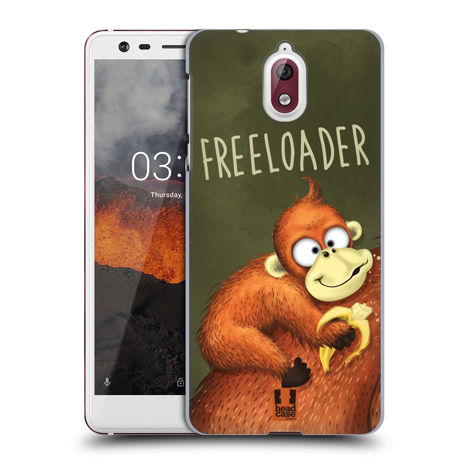 Plastové pouzdro na mobil Nokia 3.1 - Head Case - Opičák Freeloader
