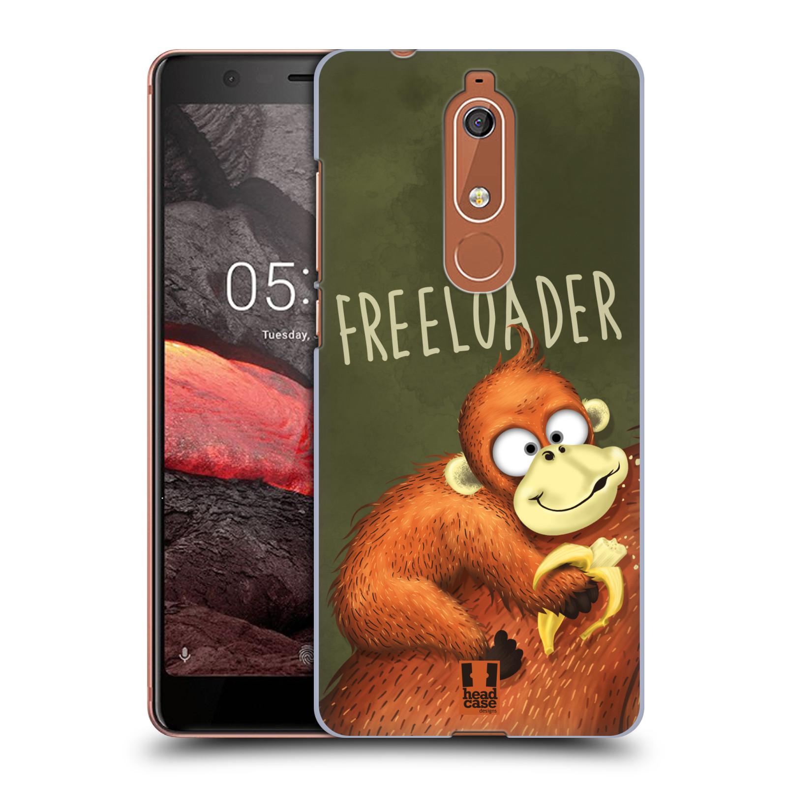 Plastové pouzdro na mobil Nokia 5.1 - Head Case - Opičák Freeloader