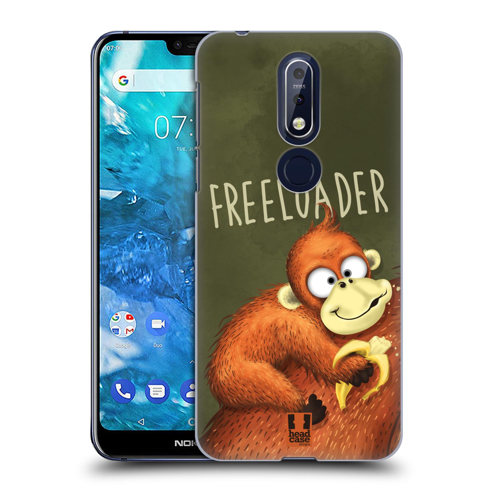 Plastové pouzdro na mobil Nokia 7.1 - Head Case - Opičák Freeloader