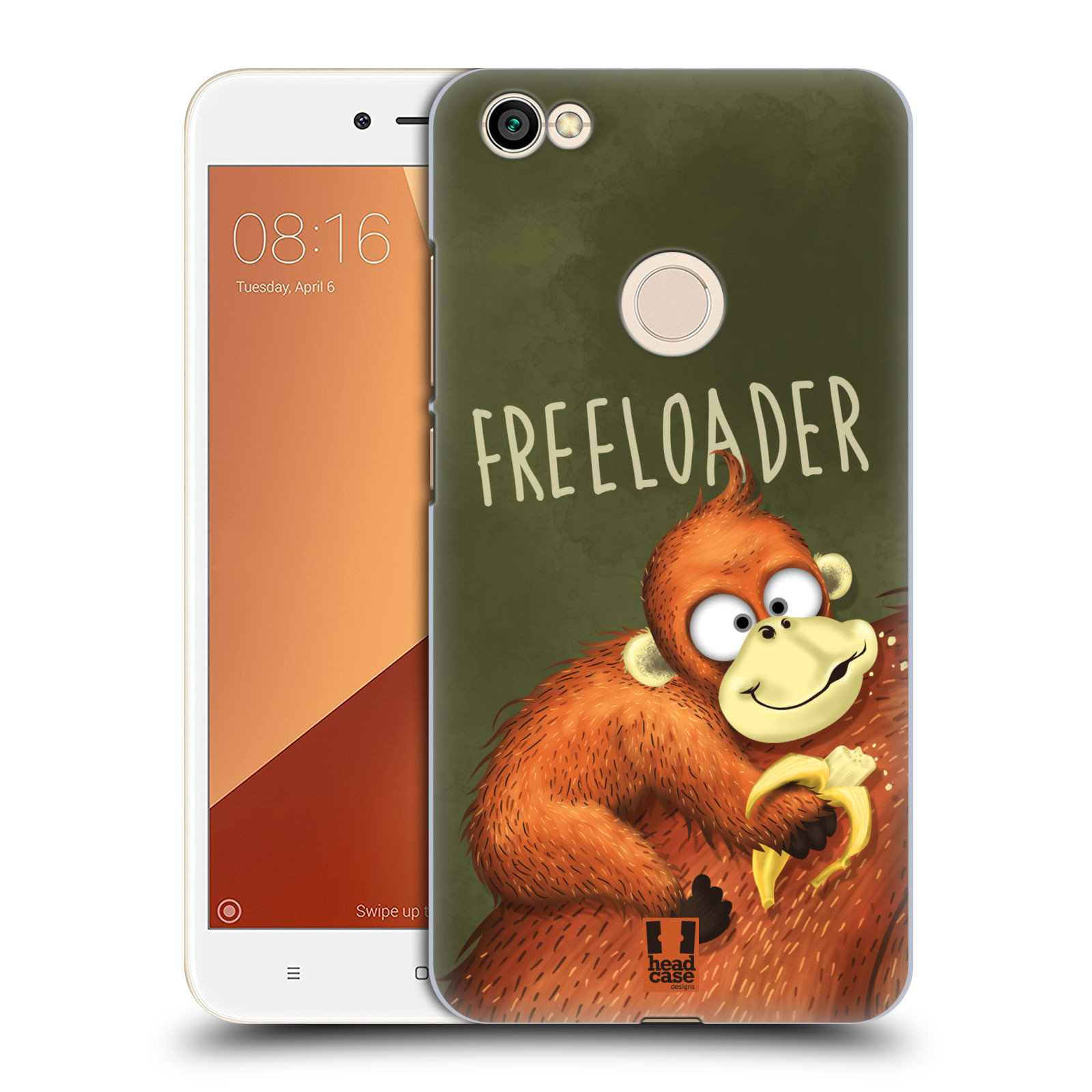 Plastové pouzdro na mobil Xiaomi Redmi Note 5A Prime - Head Case - Opičák Freeloader