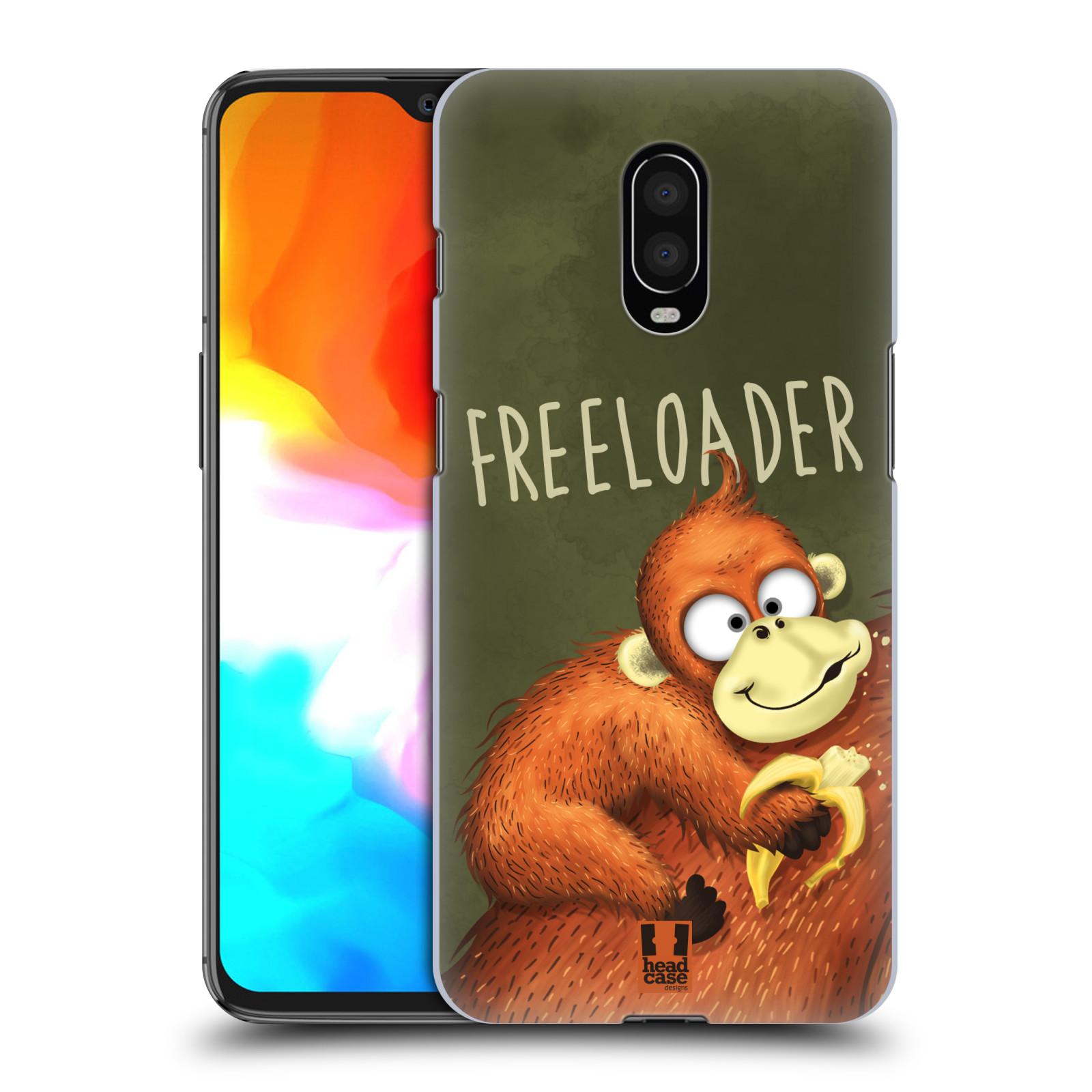 Plastové pouzdro na mobil OnePlus 6T - Head Case - Opičák Freeloader
