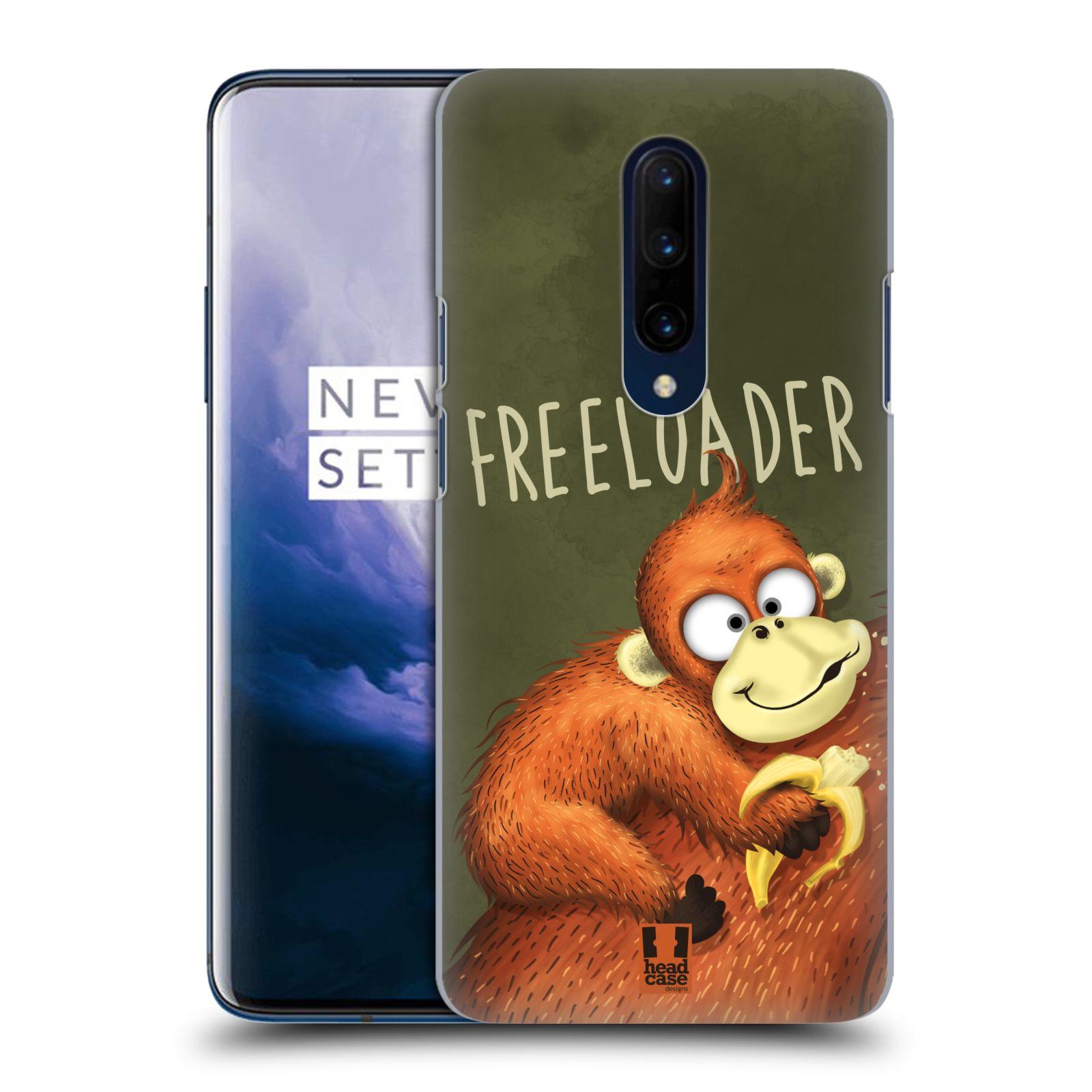 Plastové pouzdro na mobil OnePlus 7 Pro - Head Case - Opičák Freeloader