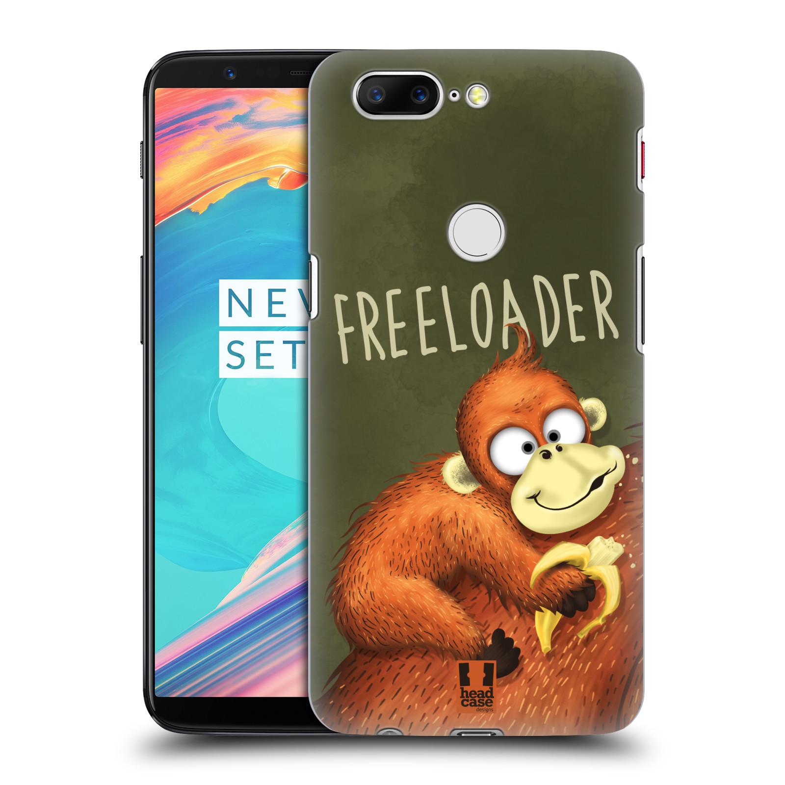 Plastové pouzdro na mobil OnePlus 5T - Head Case - Opičák Freeloader
