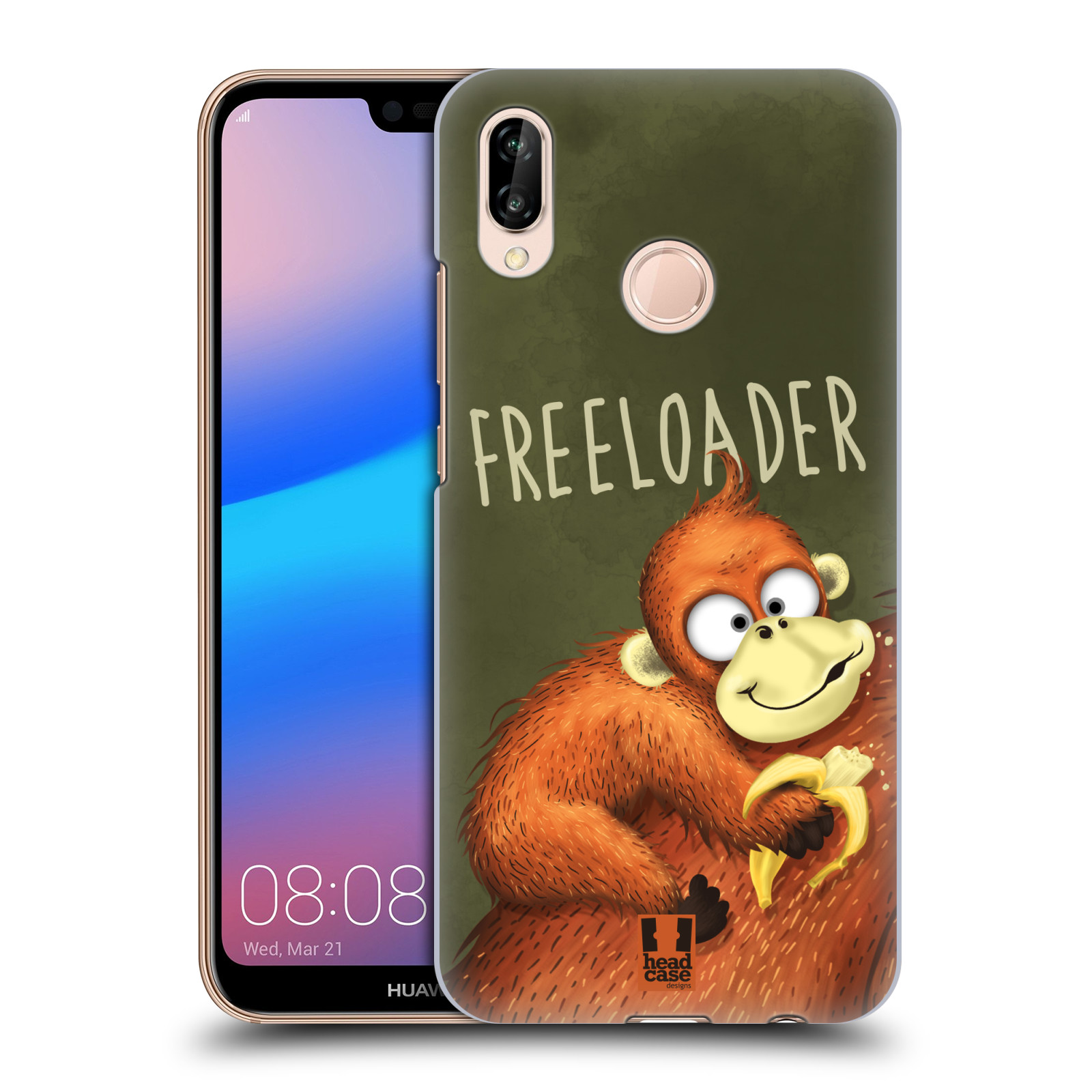 Plastové pouzdro na mobil Huawei P20 Lite - Head Case - Opičák Freeloader