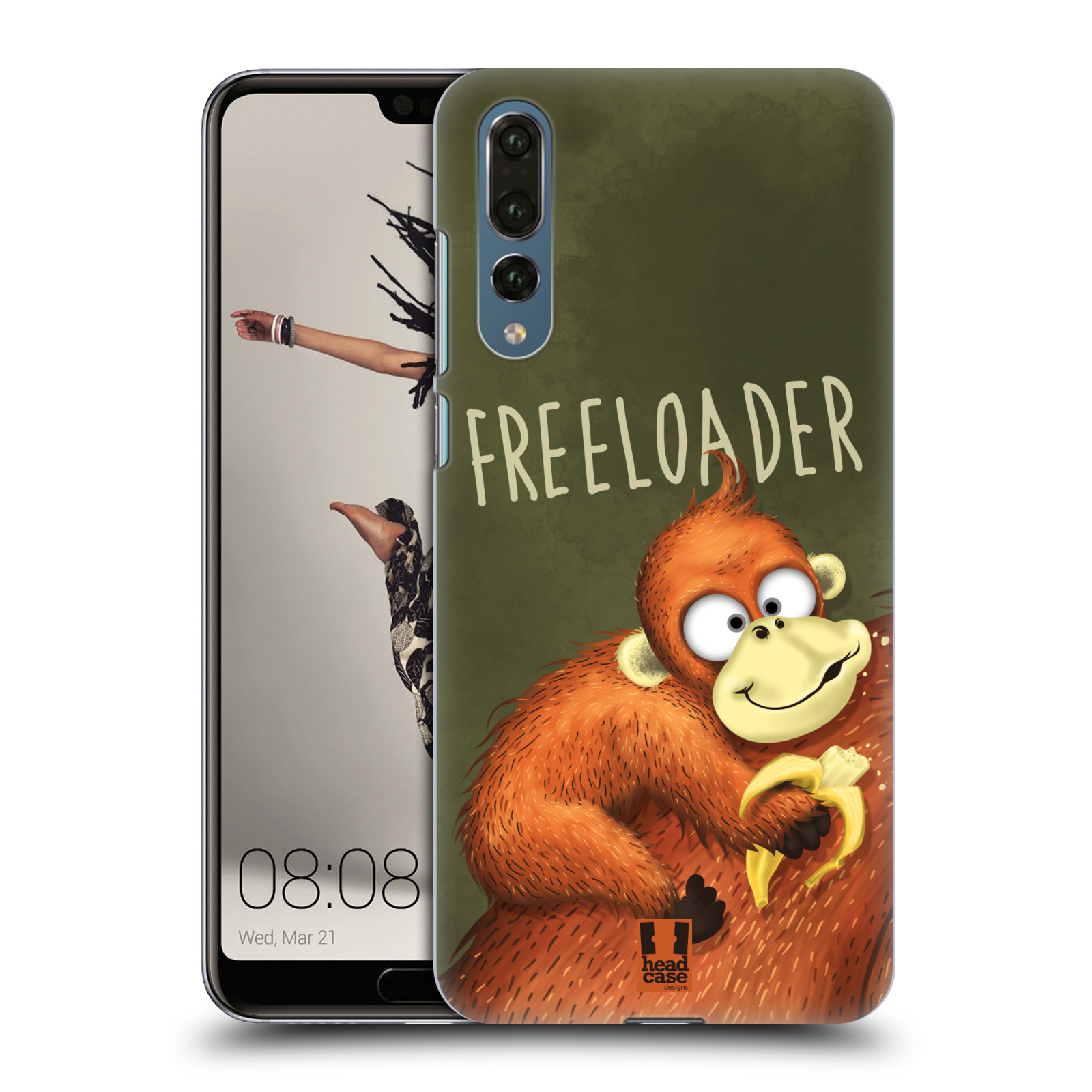 Plastové pouzdro na mobil Huawei P20 Pro - Head Case - Opičák Freeloader
