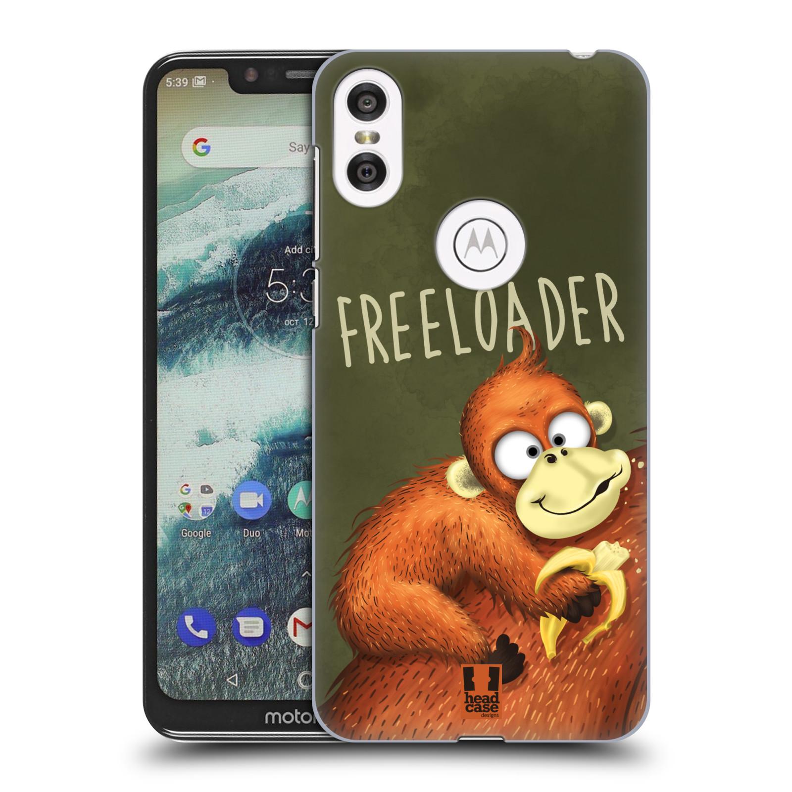 Plastové pouzdro na mobil Motorola One - Head Case - Opičák Freeloader